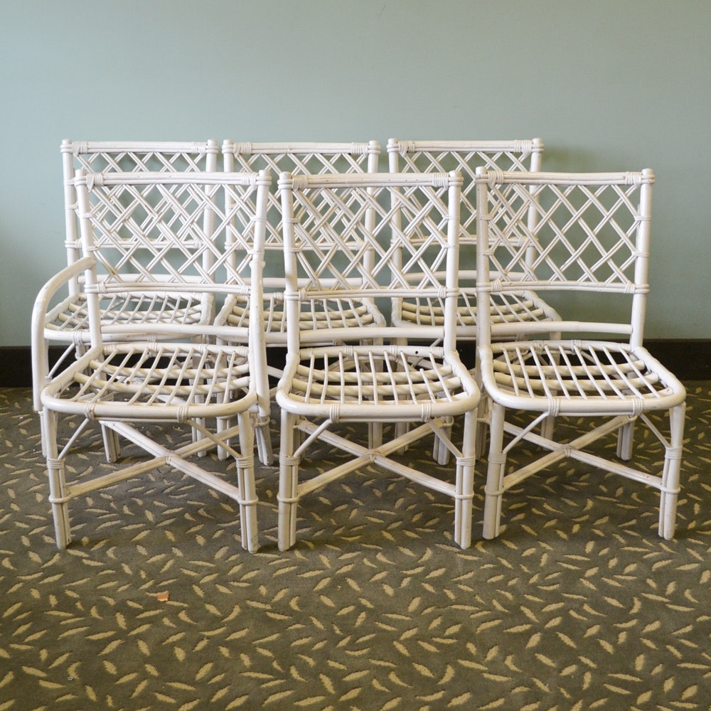 Painted Rattan Patio Chairs