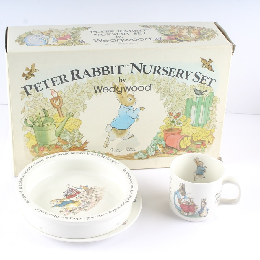 Peter Rabbit Nursery Set By Wedgwood
