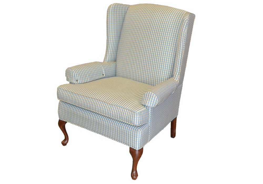 Queen Anne Style Wingback Chair by Thomasville