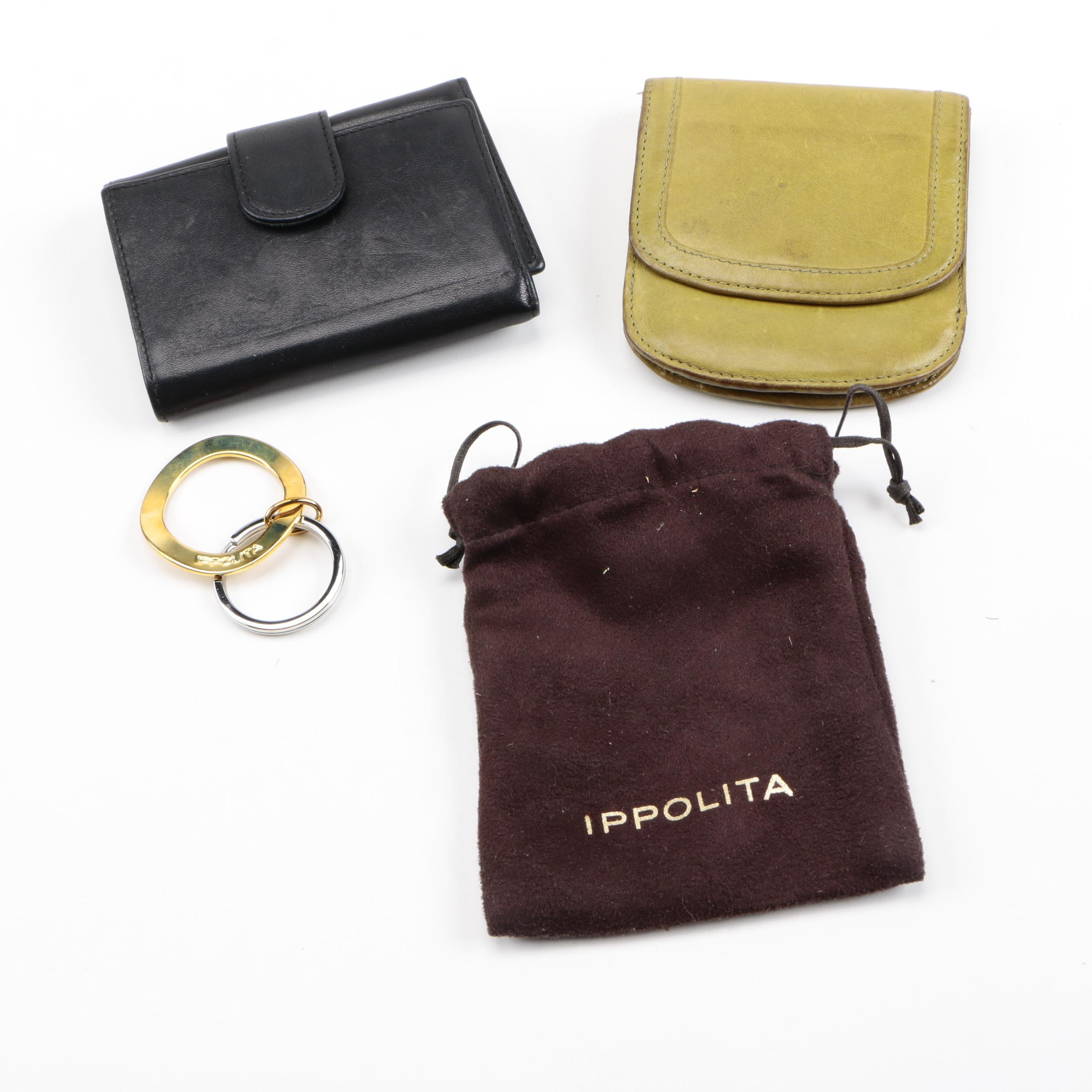 Leather Wallets and Ippolita Key Fob