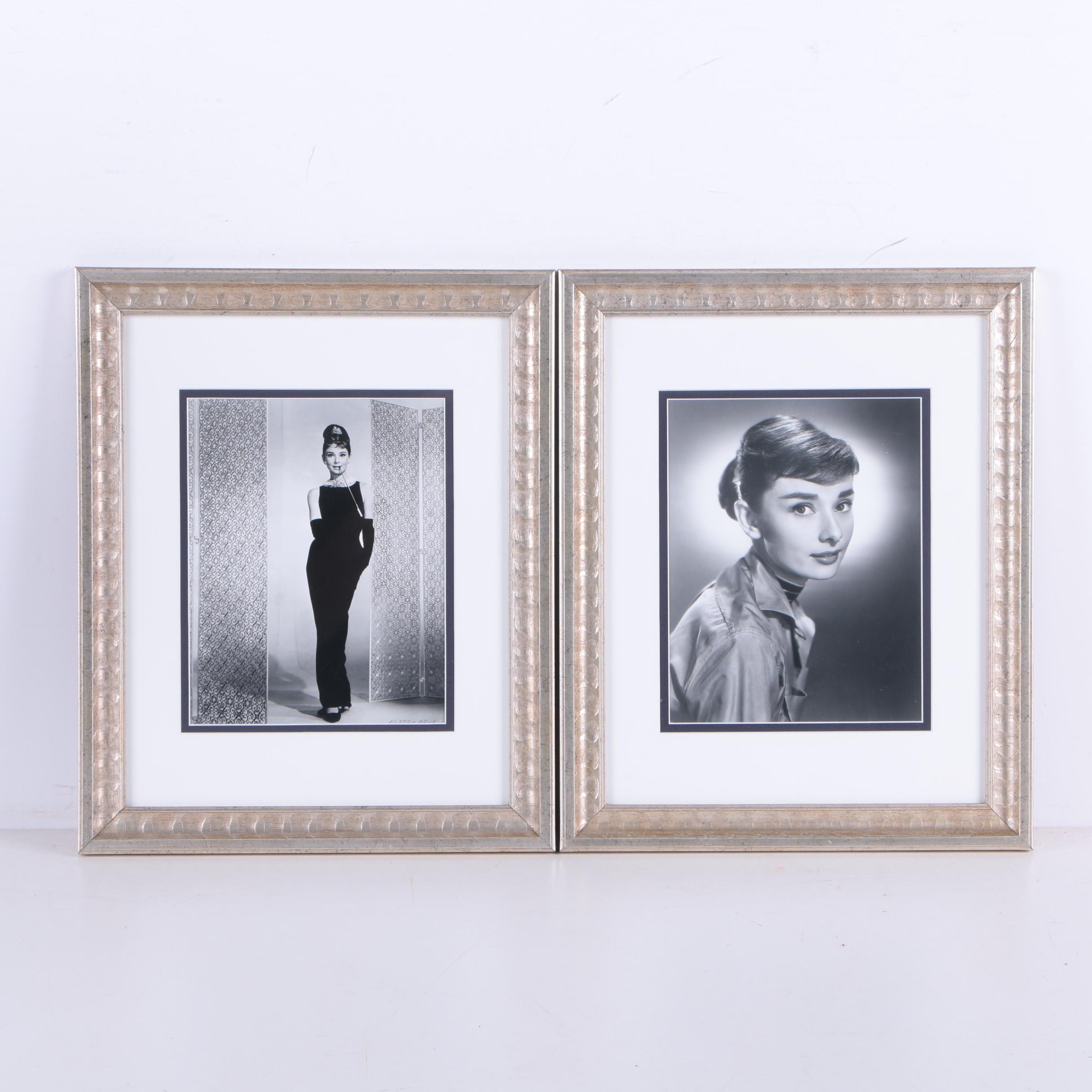 """Two Photographs of Audrey Hepburn Including from """"Breakfast at Tiffany's"""""""