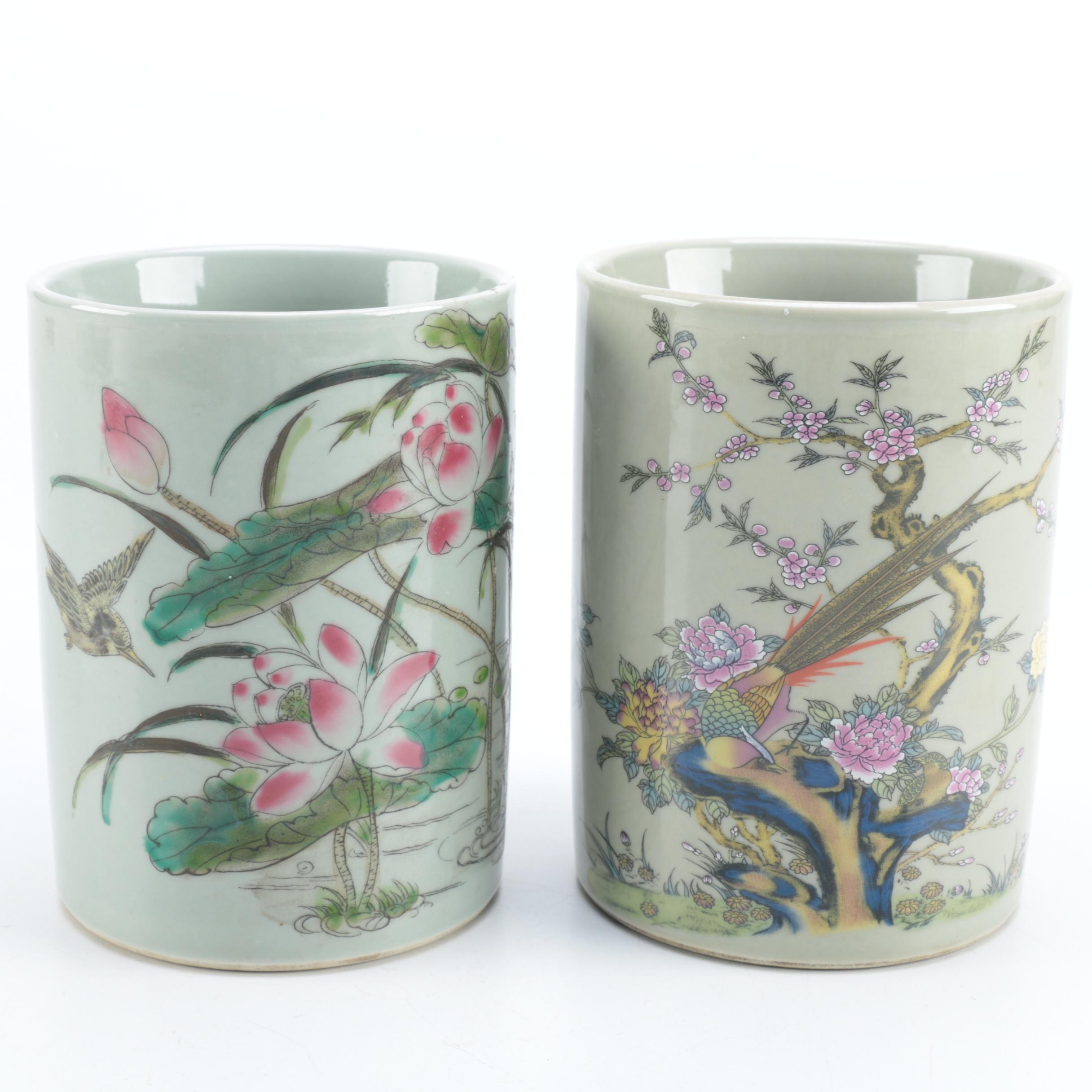 Chinese Porcelain Brush Holders