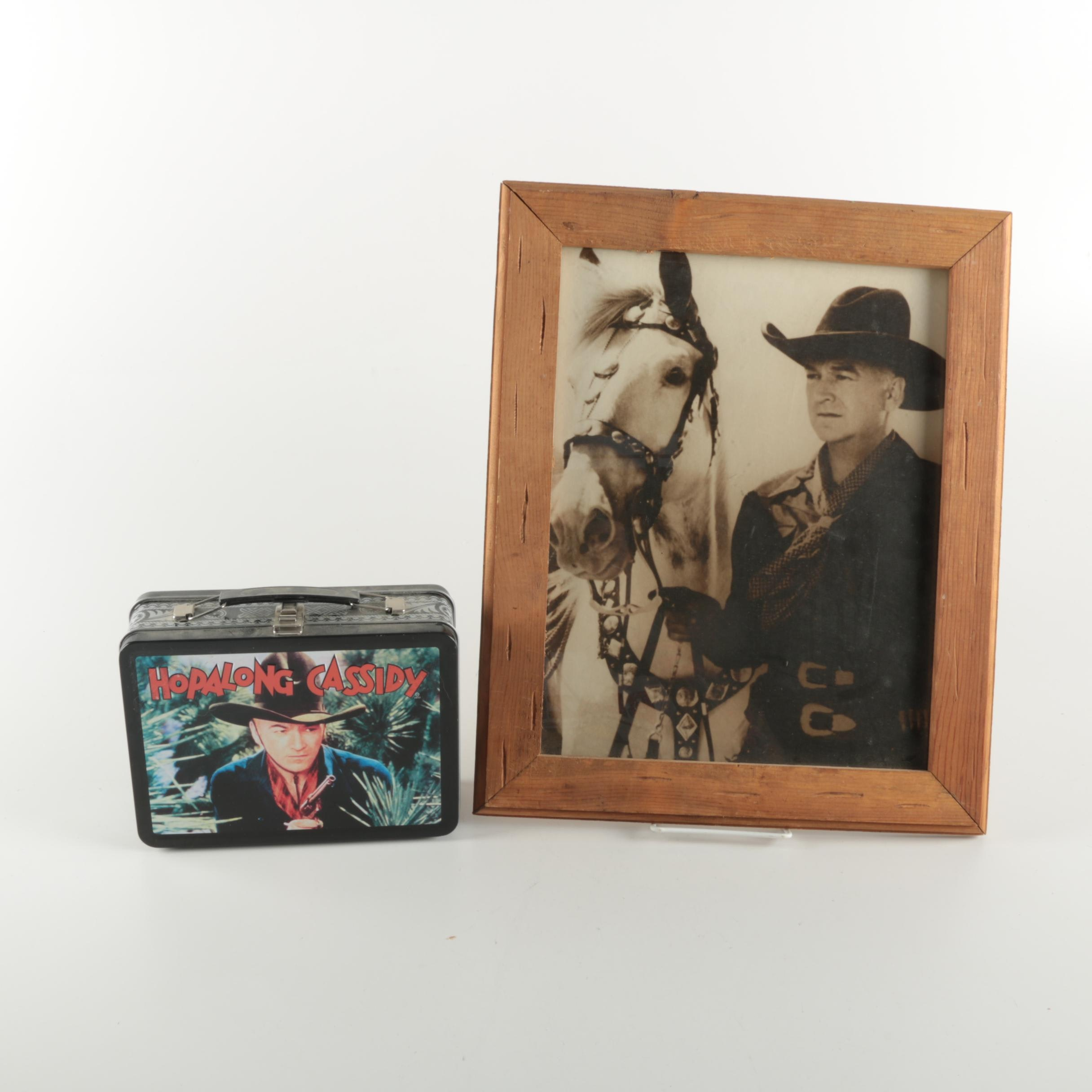 """""""Hopalong Cassidy"""" Feature Film DVD Box Set and Framed Photograph with Topper"""