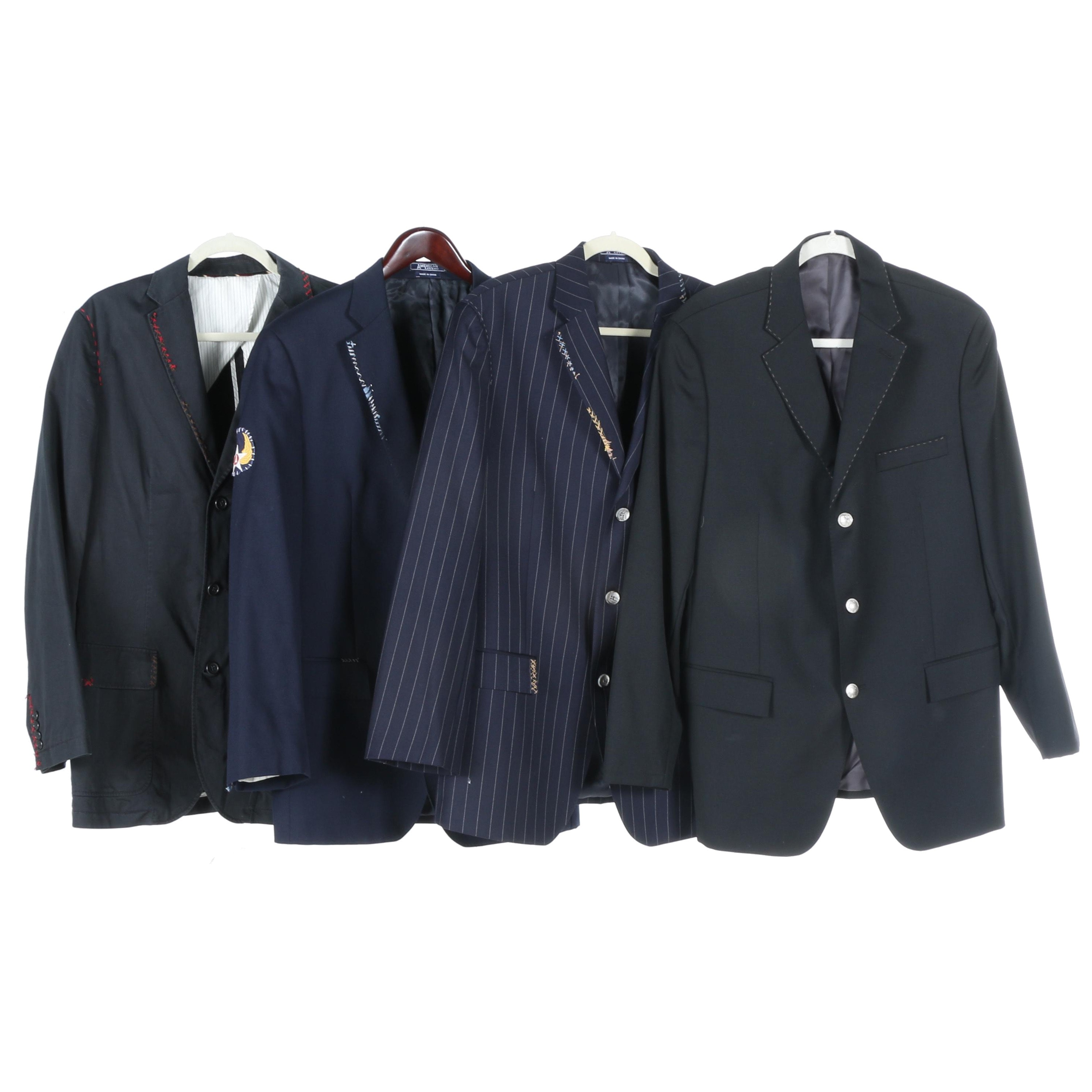 American Living Blue and Pinstripe Jackets