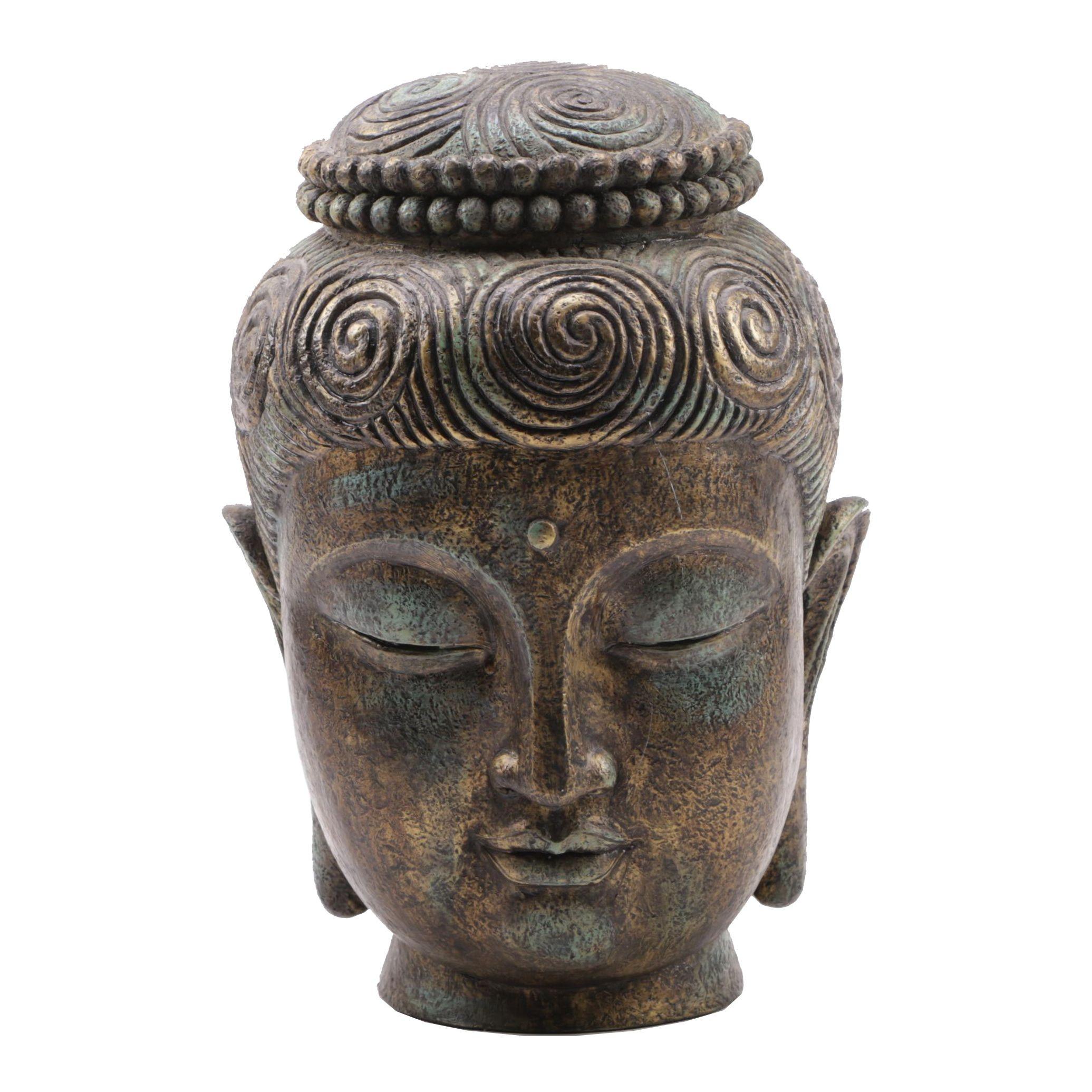 Buddha Head Ceramic Statue