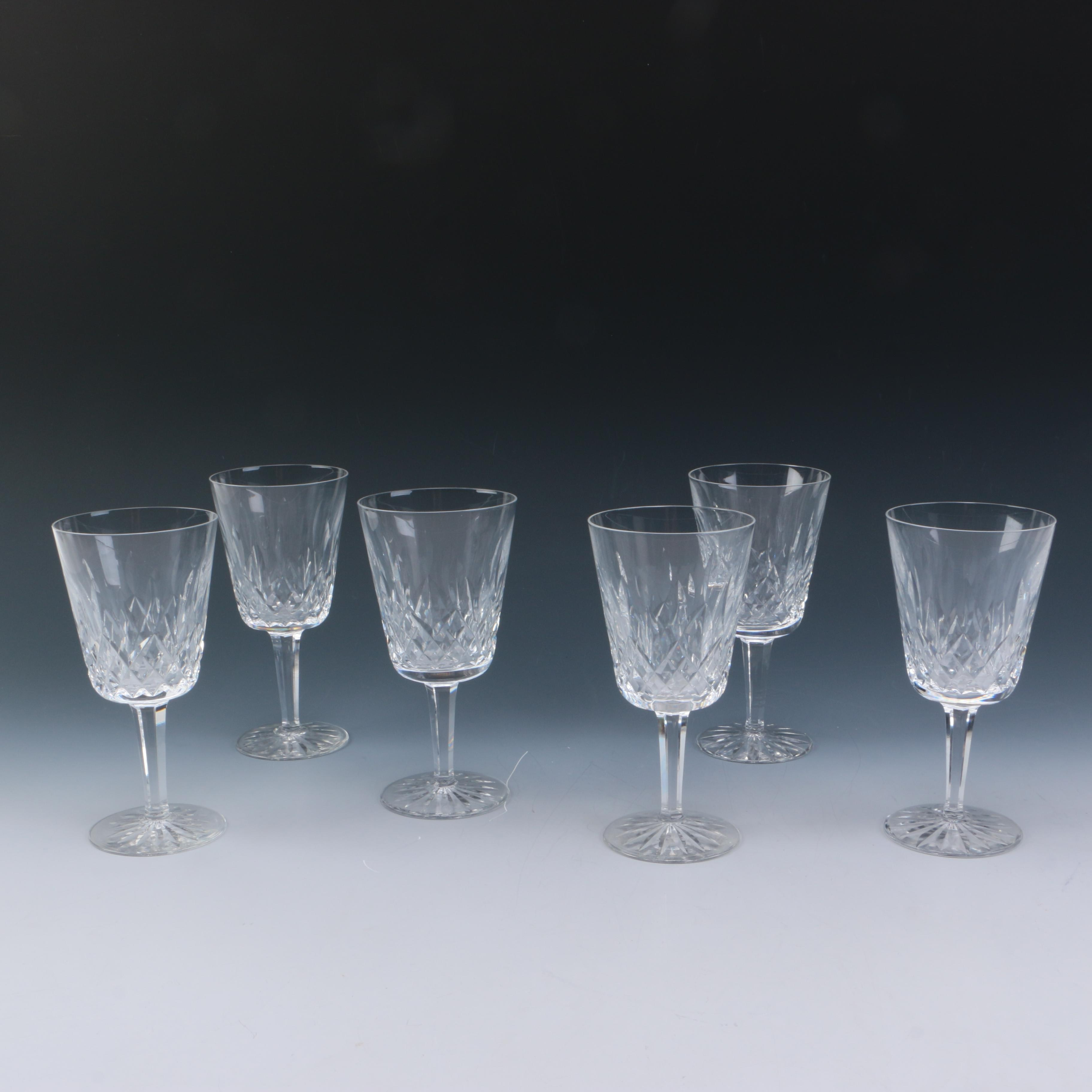 """Waterford """"Lismore"""" Crystal Goblets"""