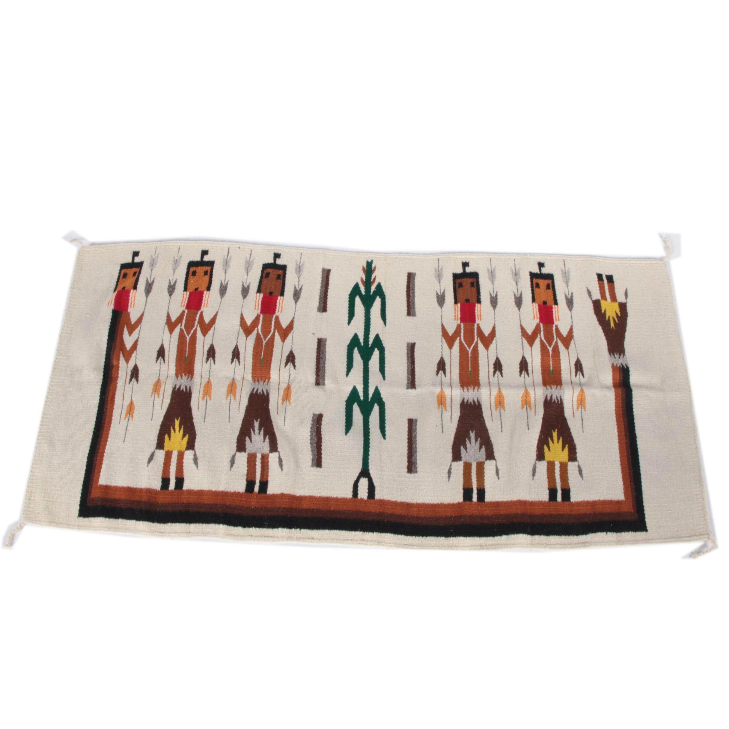 Handwoven Wool Yei Rug