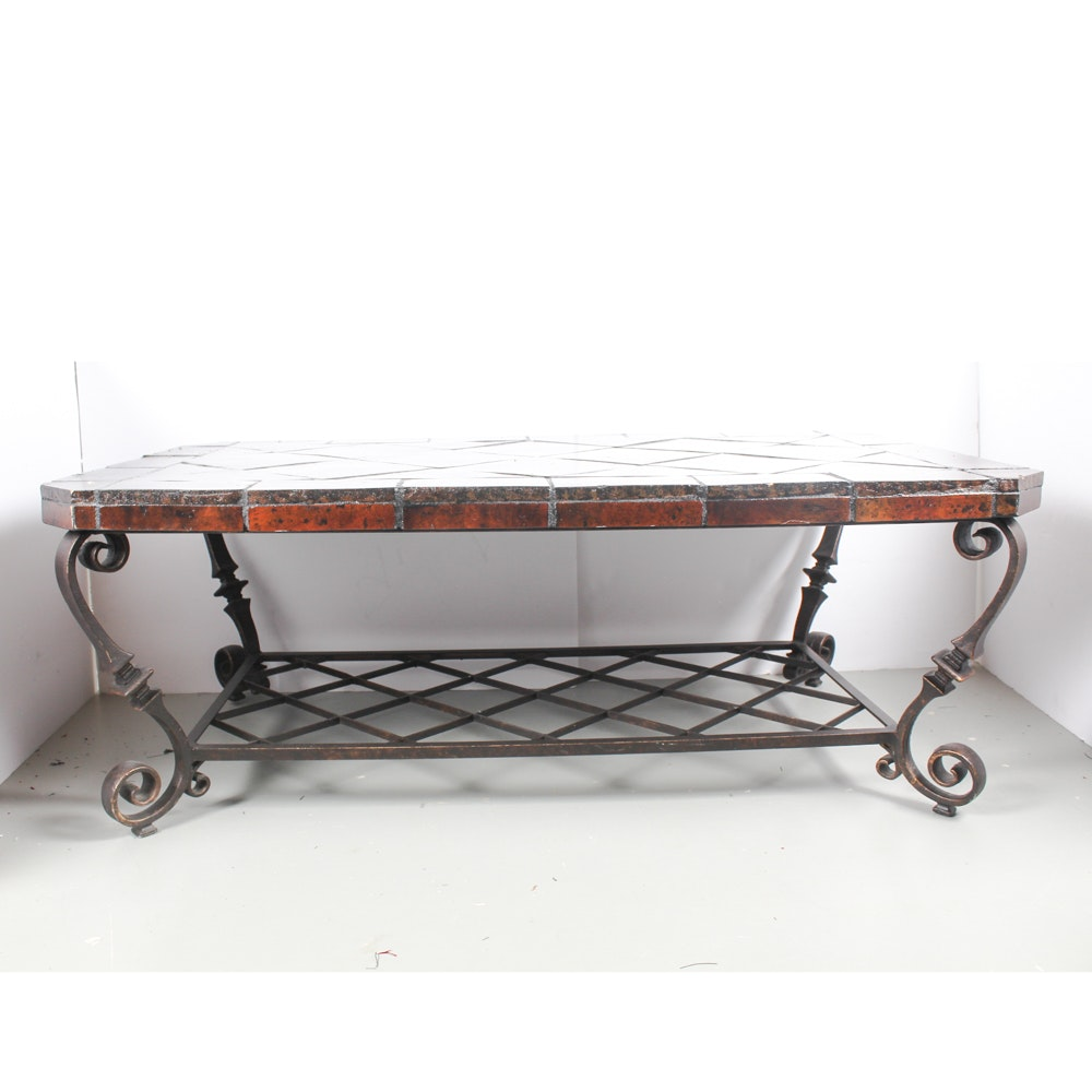 Tiled Ironwork Coffee Table
