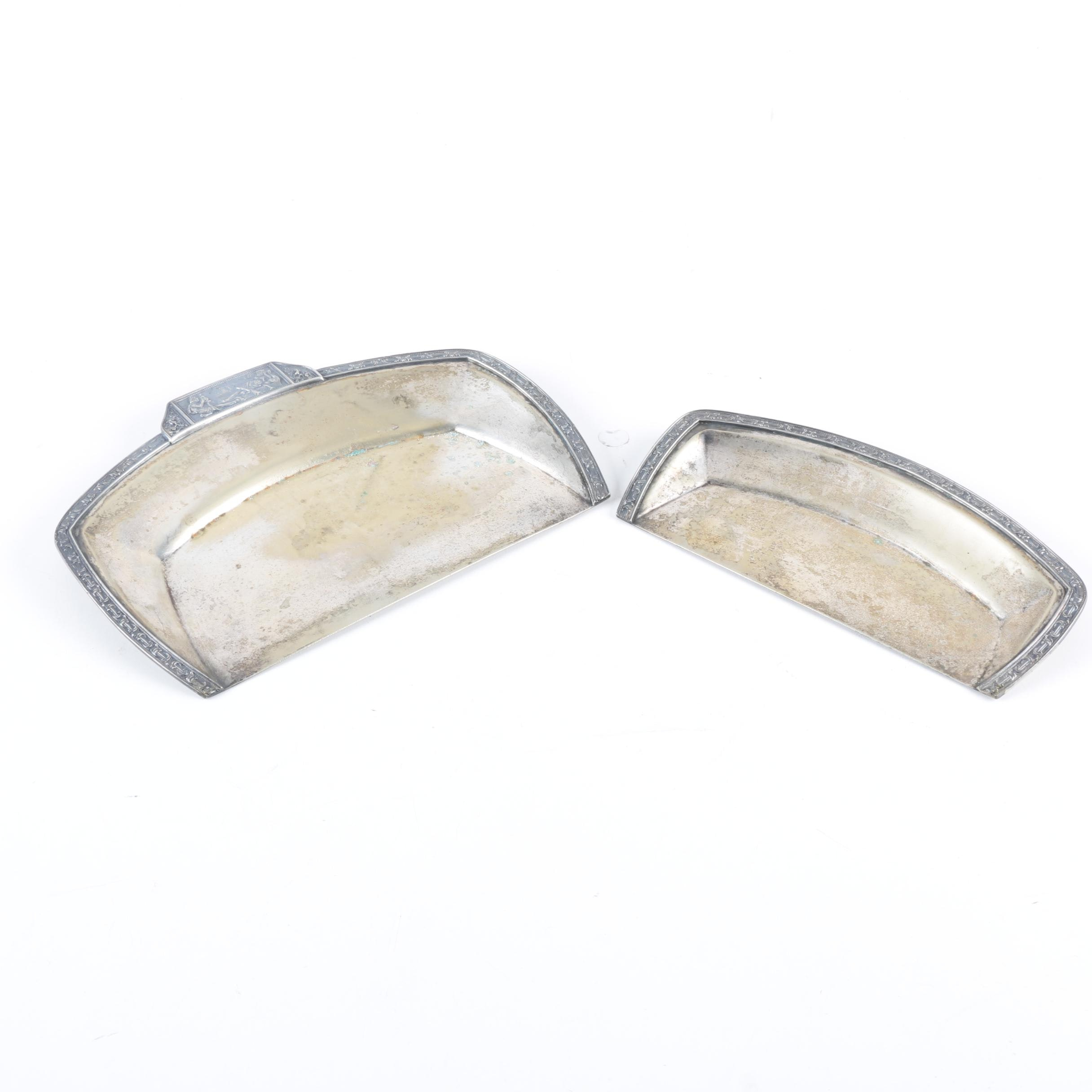 Homan Plate Plated Silver Crumb Catchers