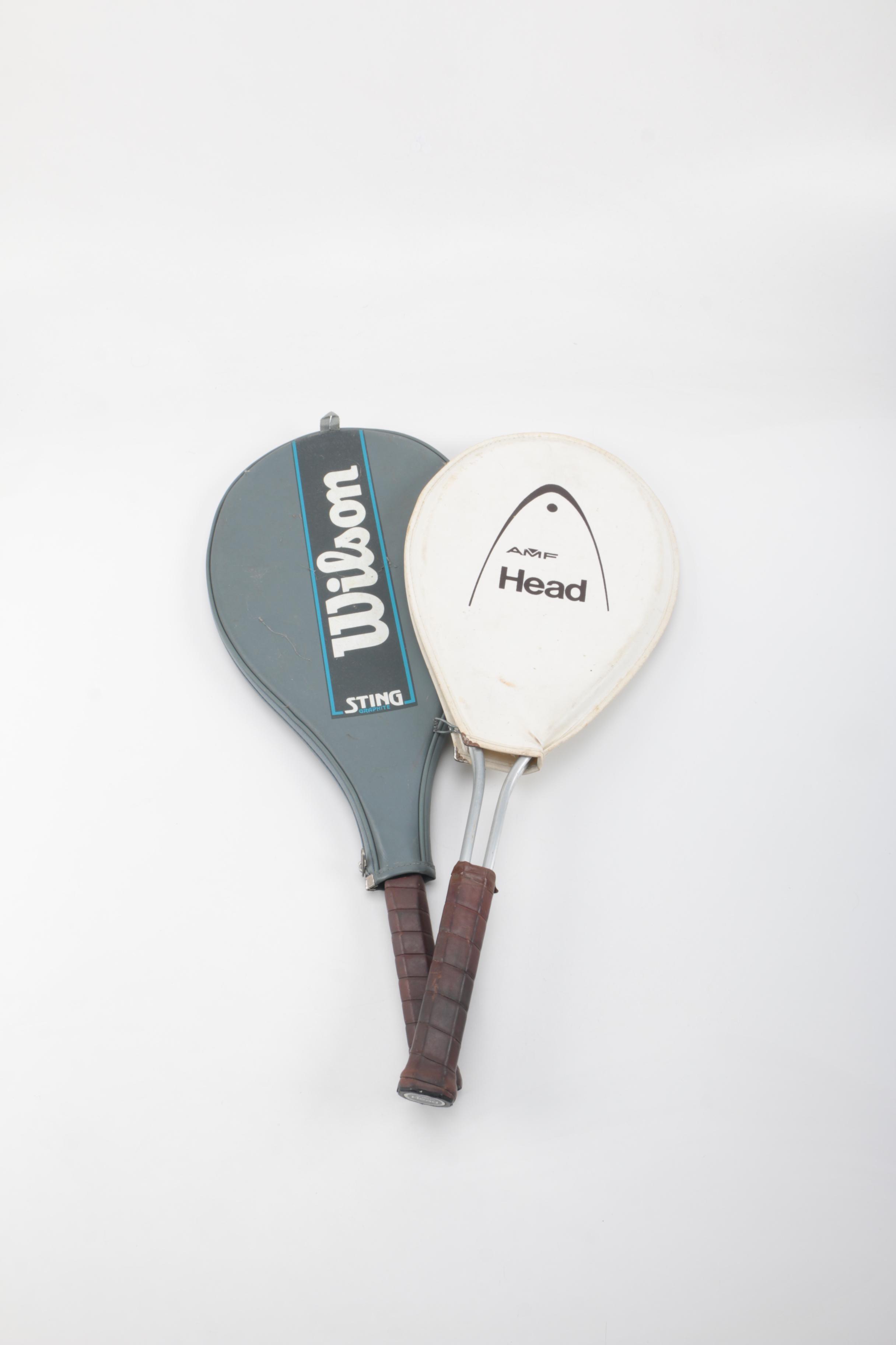 Wilson and Head Tennis Rackets