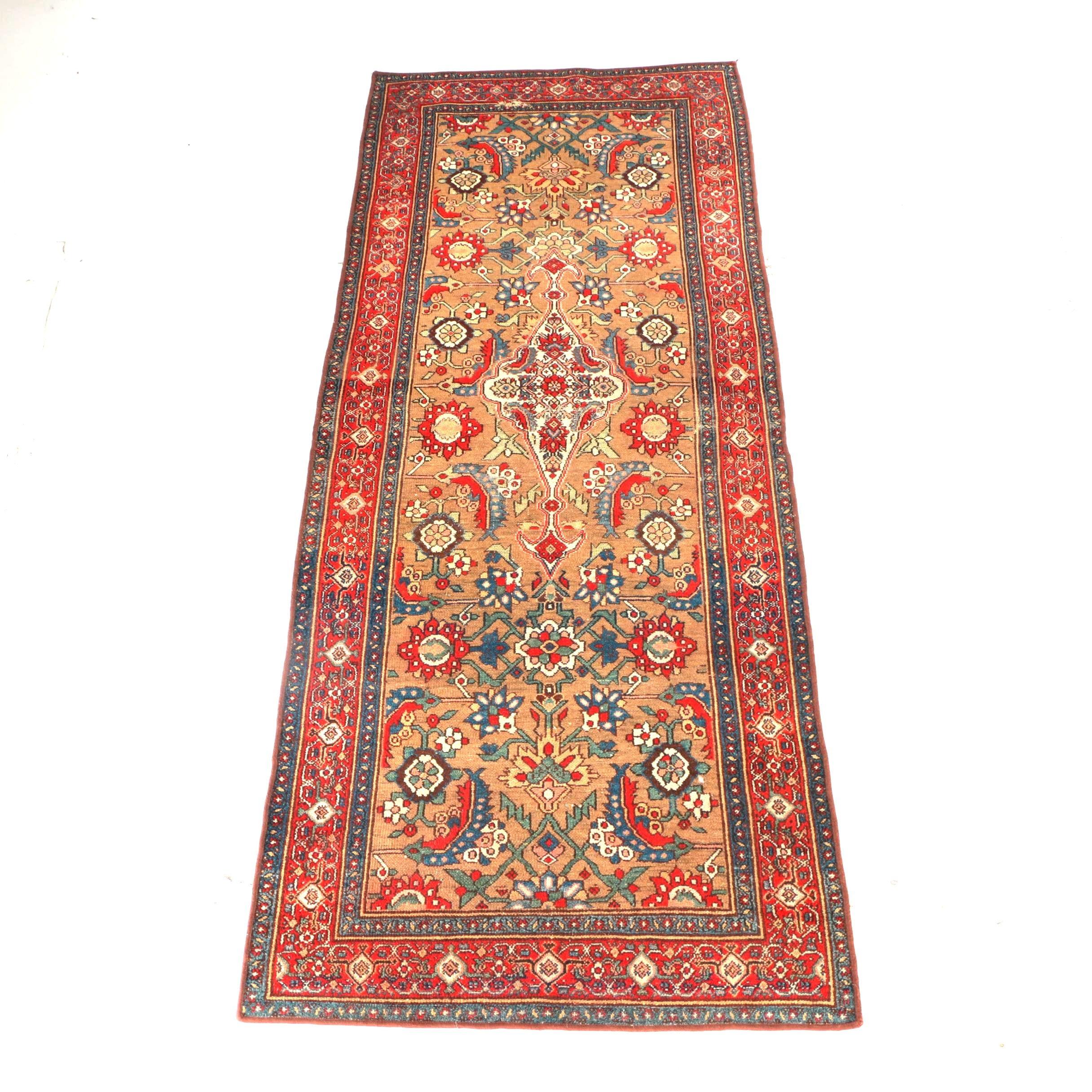 Antique Handwoven Persian Long Rug