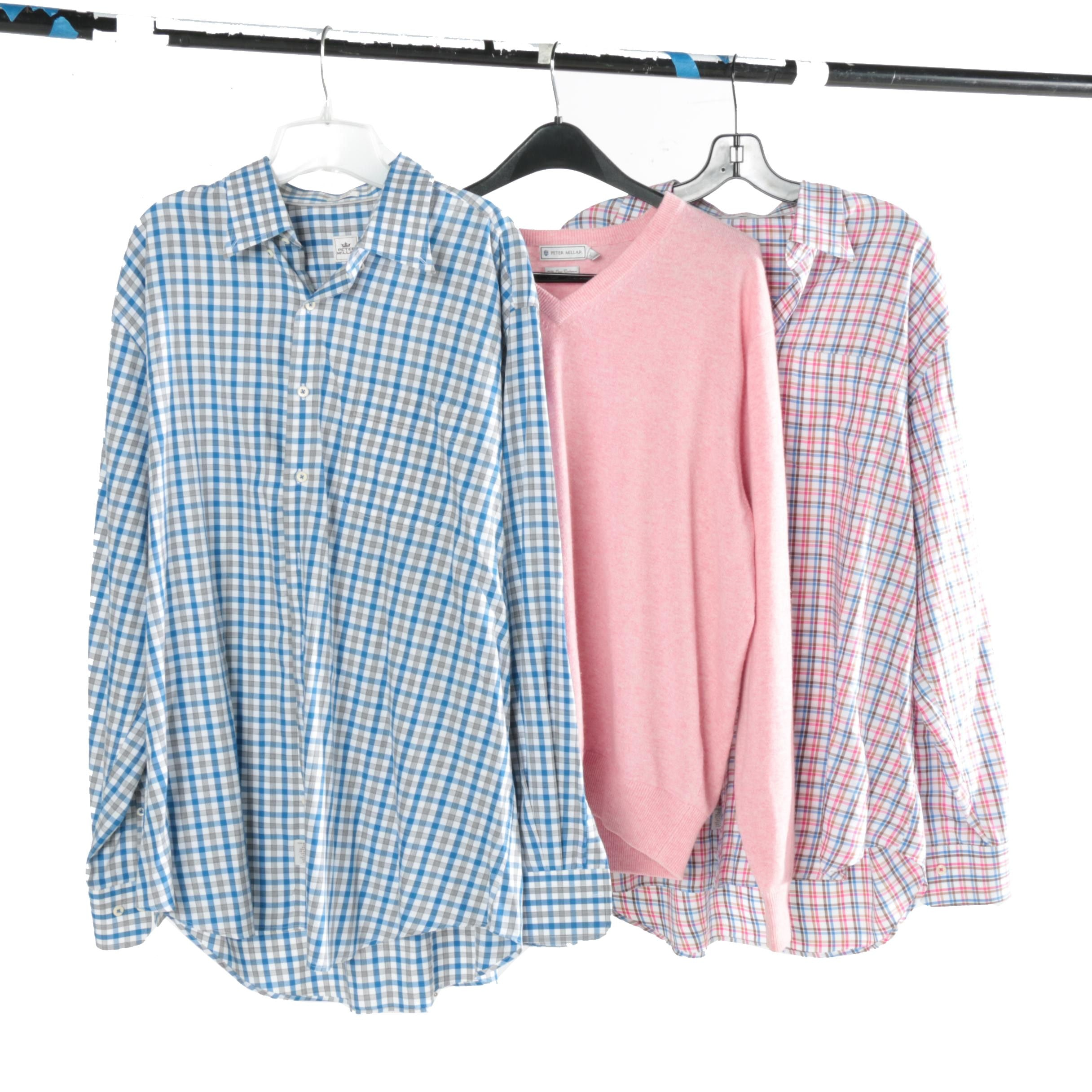 Peter Millar Cashmere Sweater and Pair of Shirts
