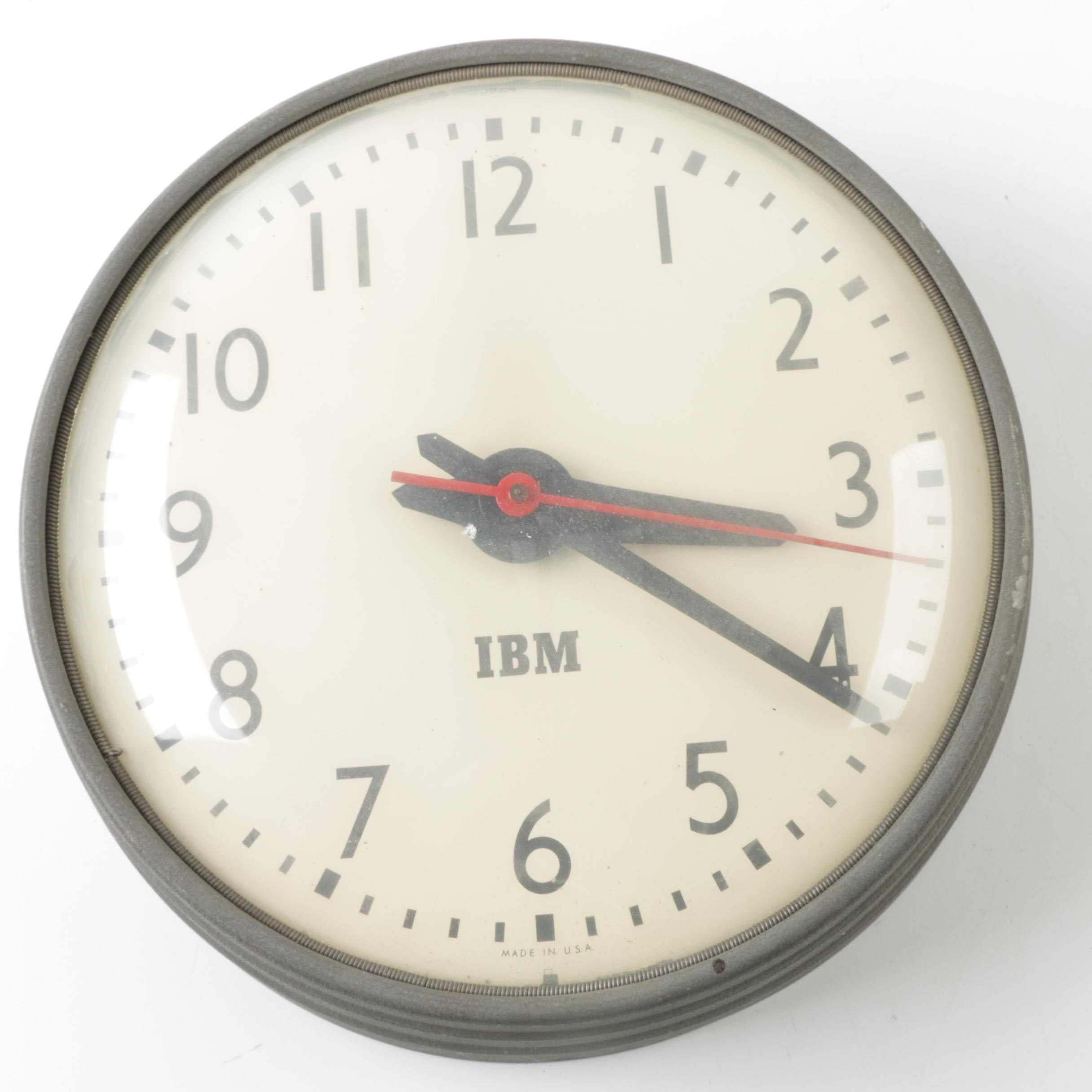 Vintage IBM Wall Clock