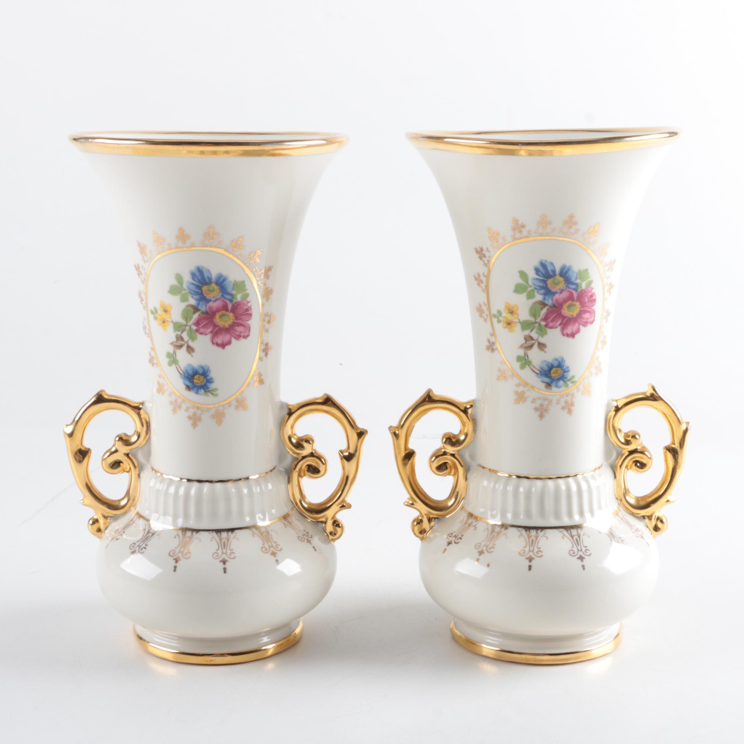 Floral Porcelain Vases