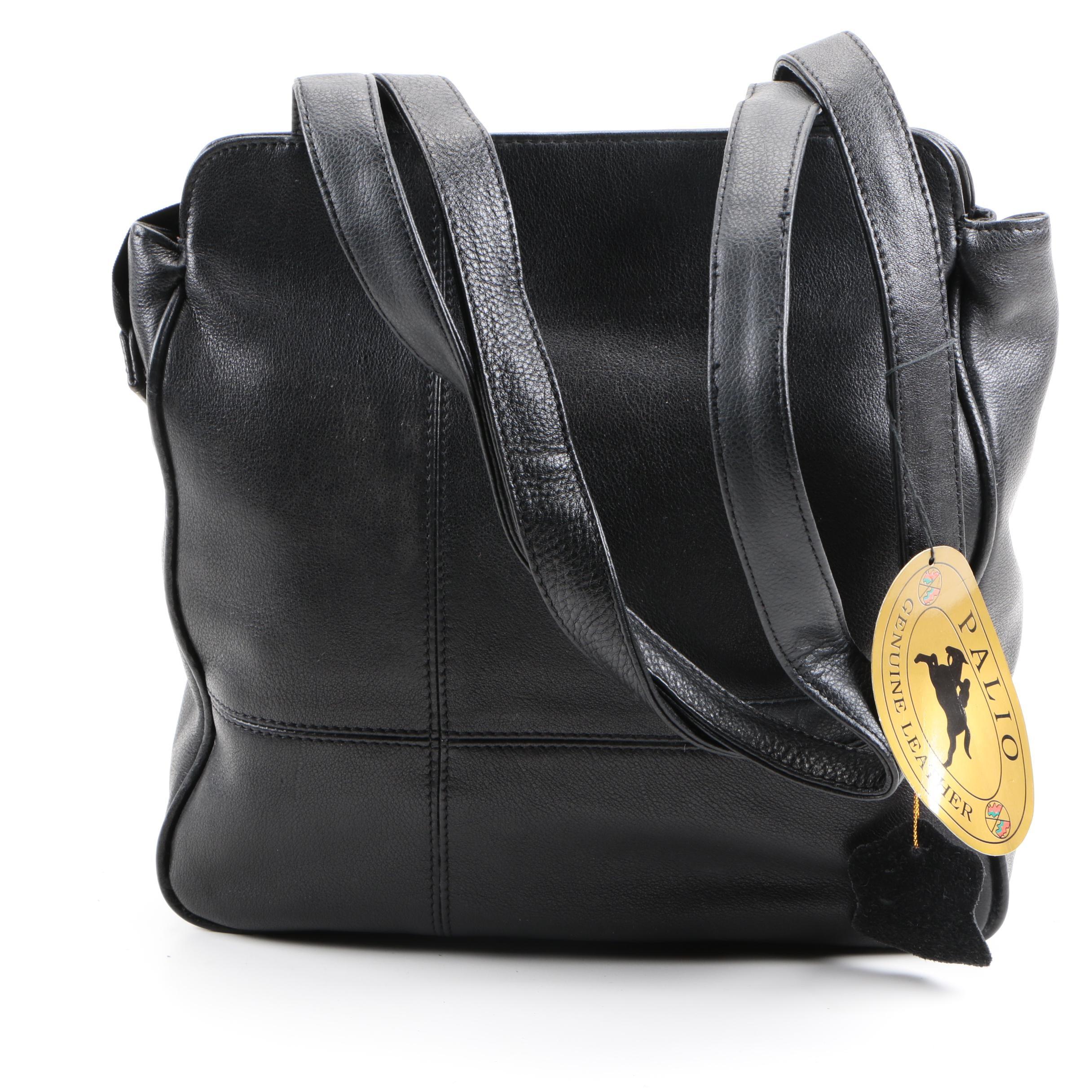 Palio Black Leather Tote