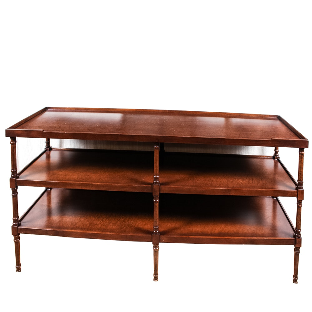 Walnut Veneer Sofa Table by Trouvailles