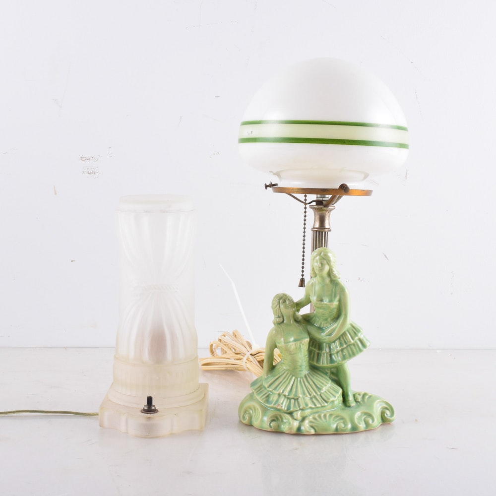 Two Vintage Accent Lamps