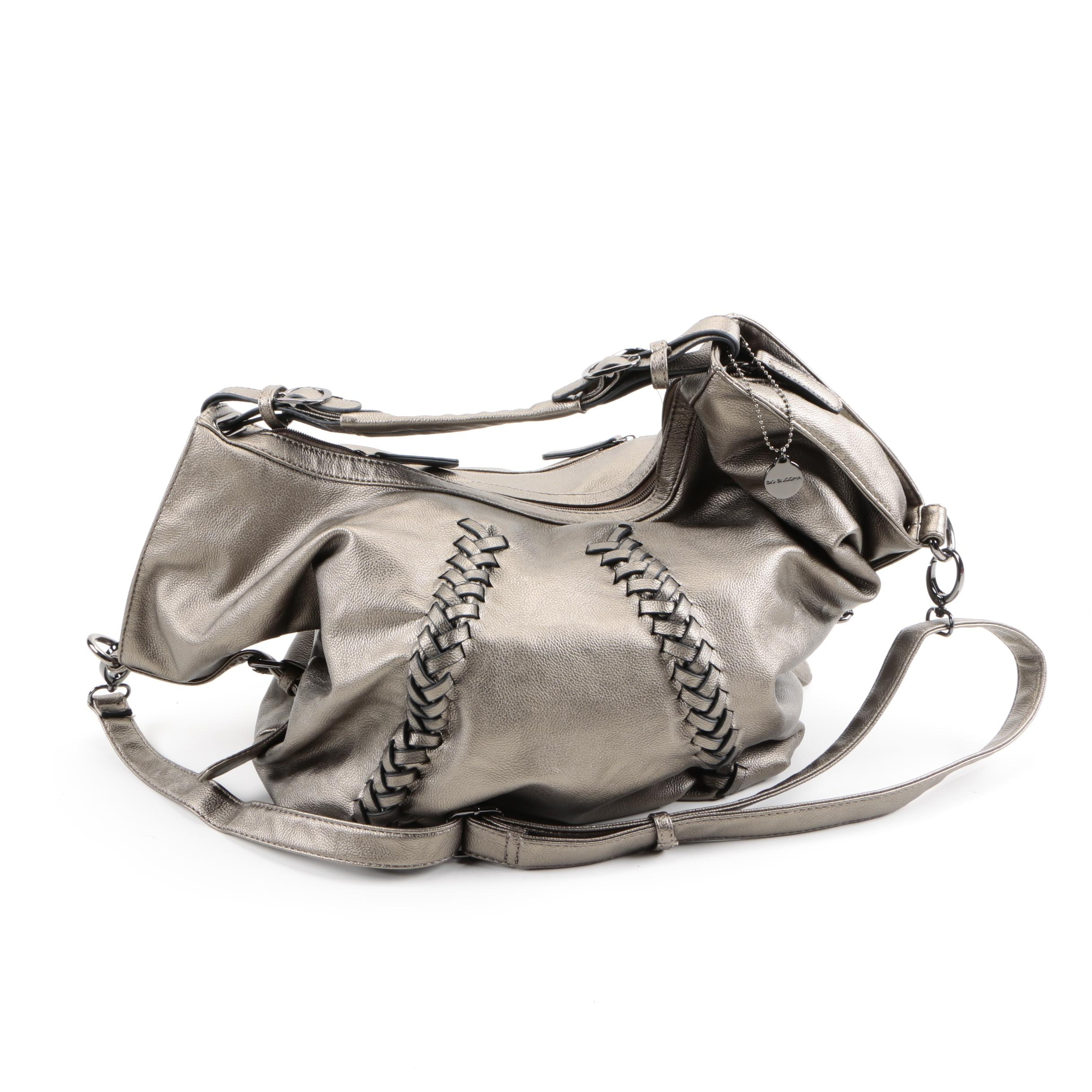 Big Buddha Metallic Hobo Bag