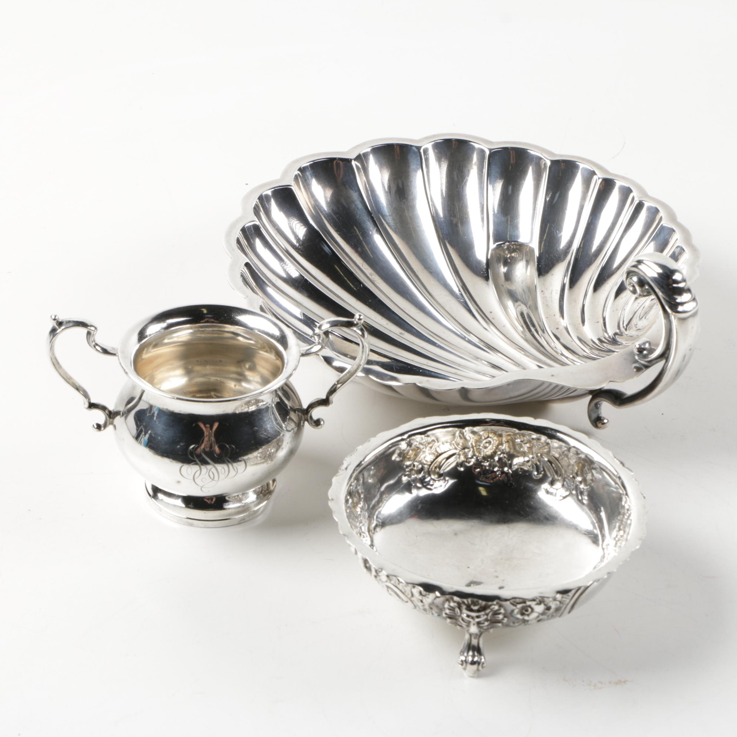 1860 Robert Harper Sterling Bowl with Other Sterling Silver Pieces