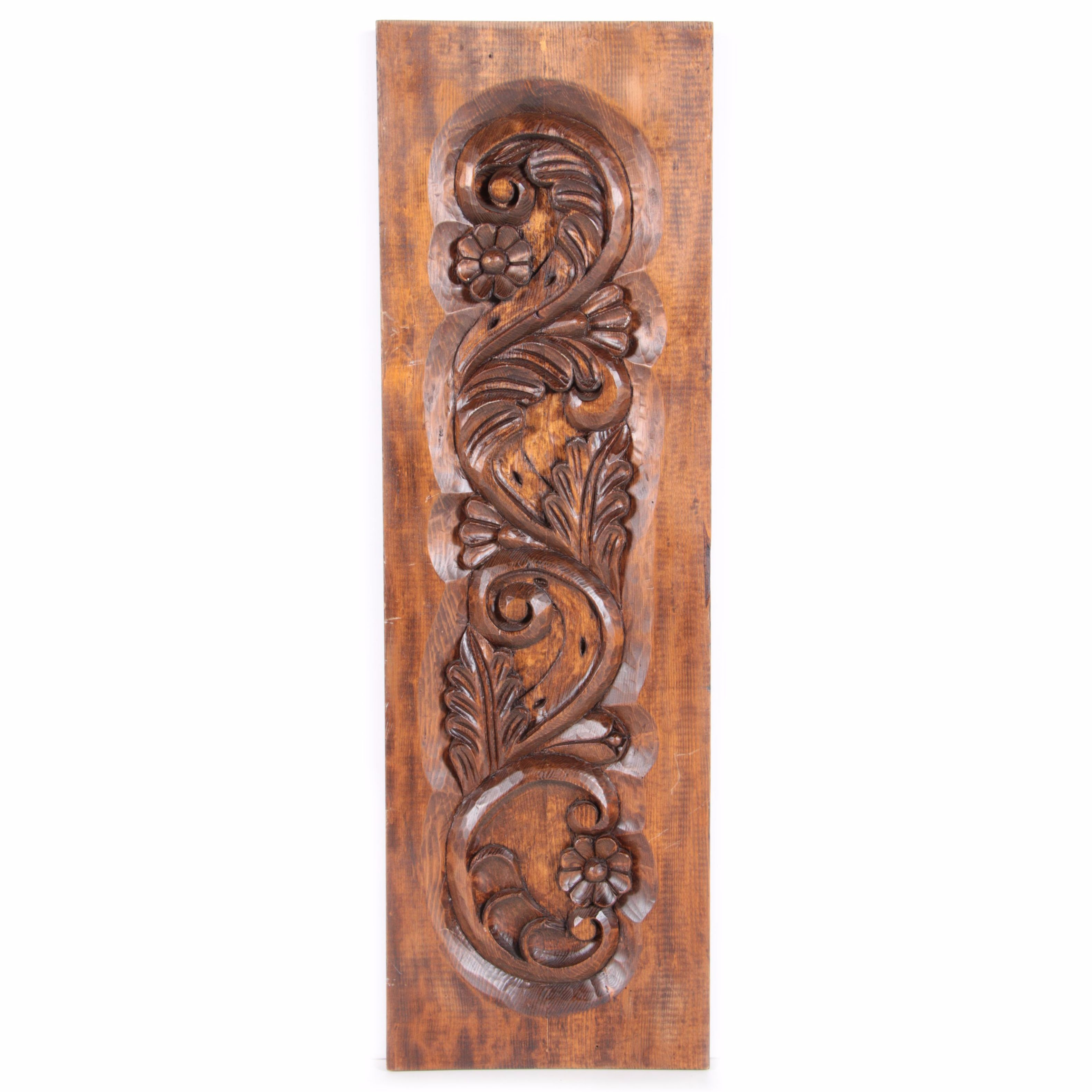 Carved Wooden Floral Wall Decor