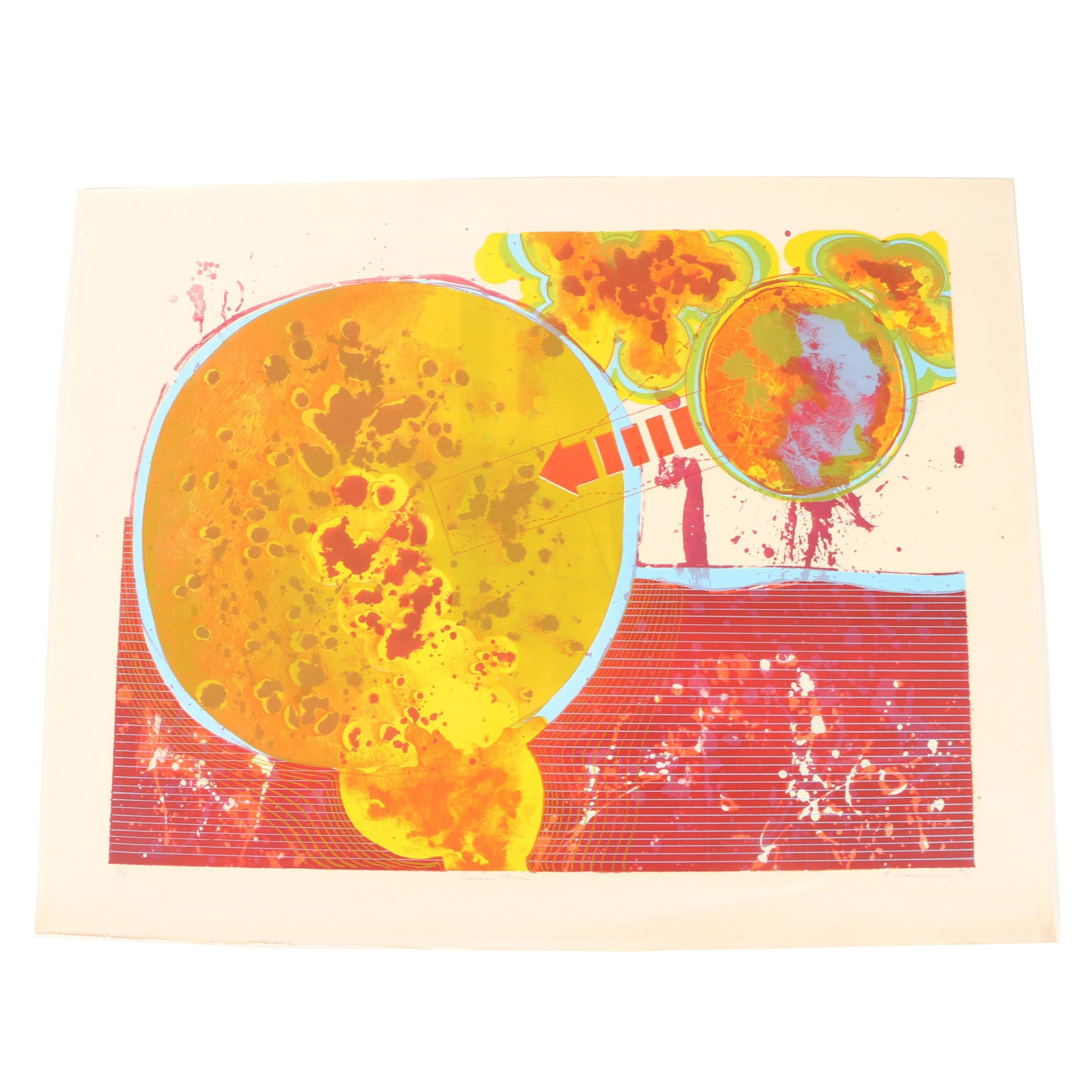"Limited Edition Serigraph on Arches Paper ""Summer Moon"""