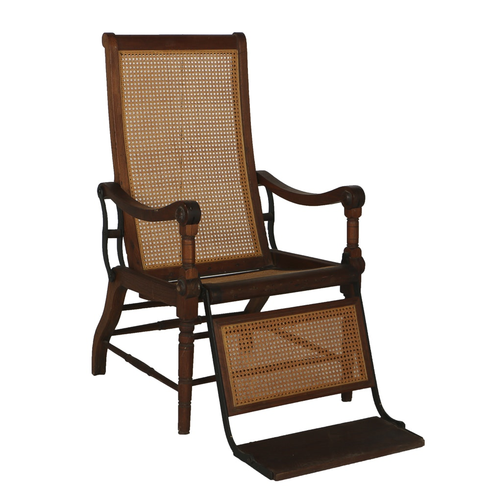 Victorian Caned Dentist Recliner