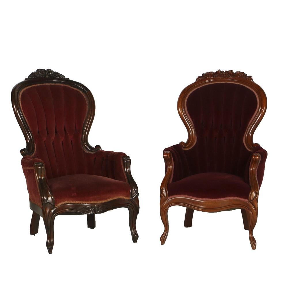 Reproduction Victorian Arm Chair
