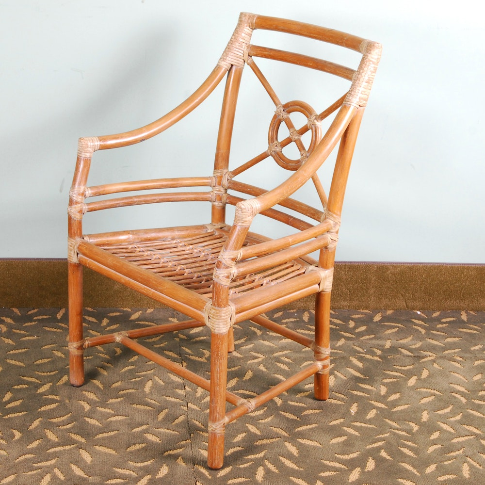 Rattan Armchair by McGuire