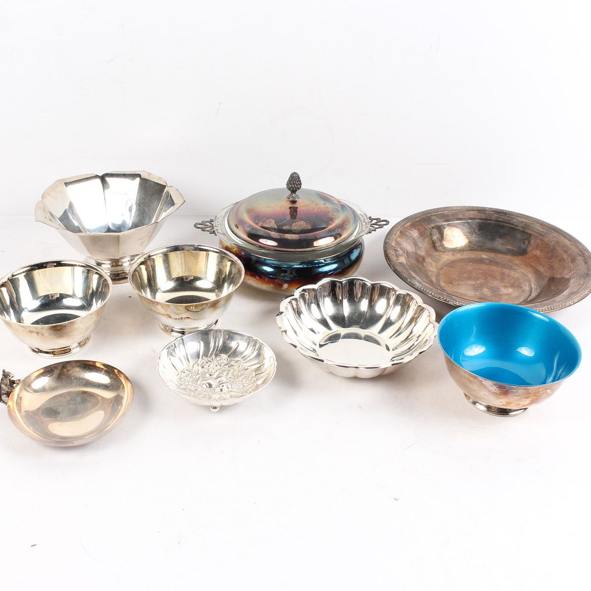 Assorted Silver Plate Bowls and Serving Dish