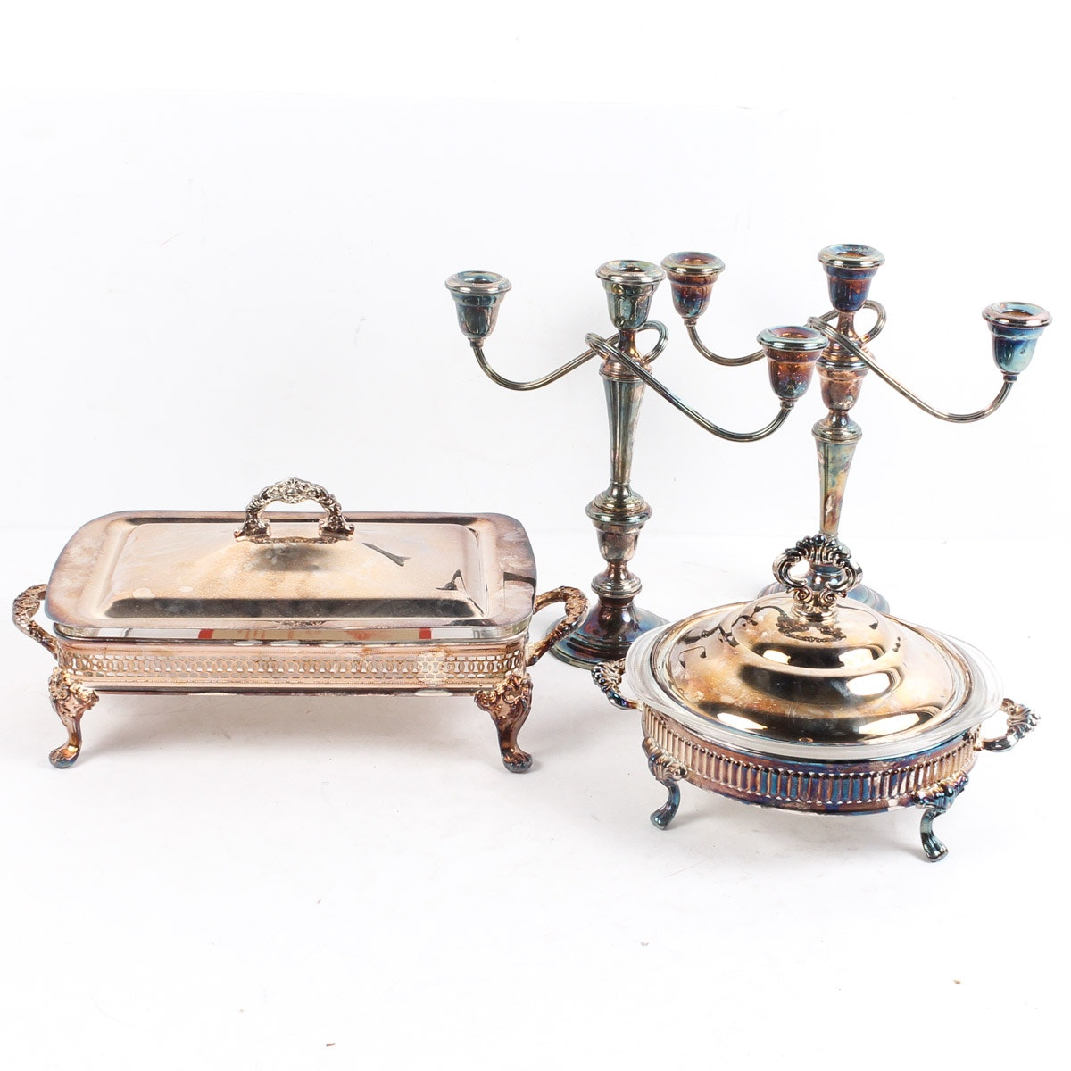 Silver Plate Decor and Tableware Including Gorham Mfg. Co.