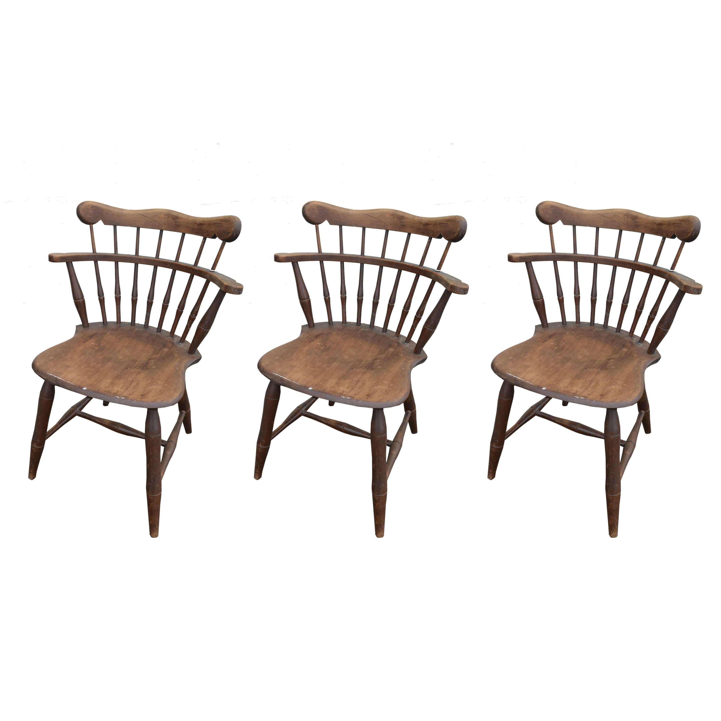 Set of vintage Windsor Style Chairs by Kling