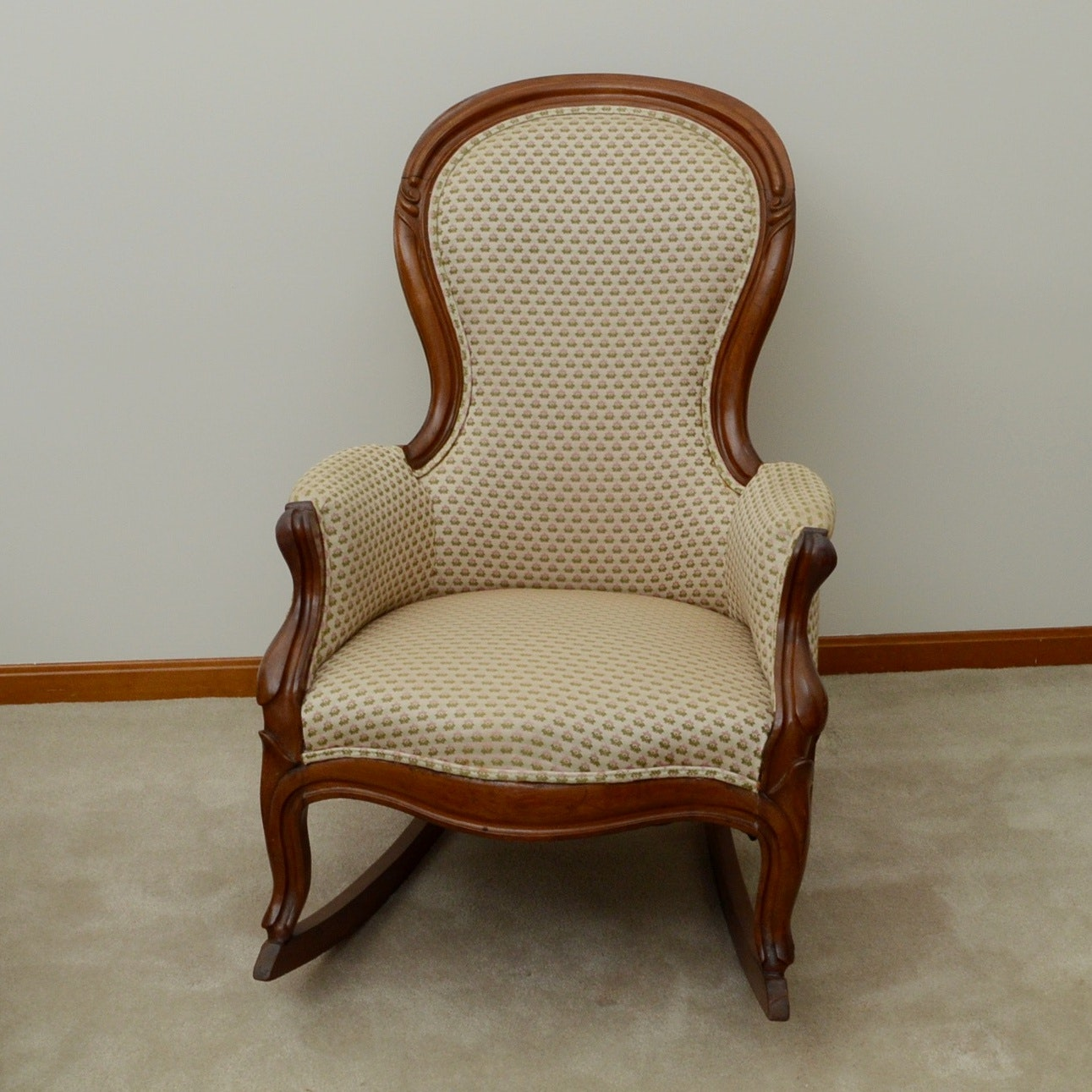 Antique Rococo Style Rocking Chair