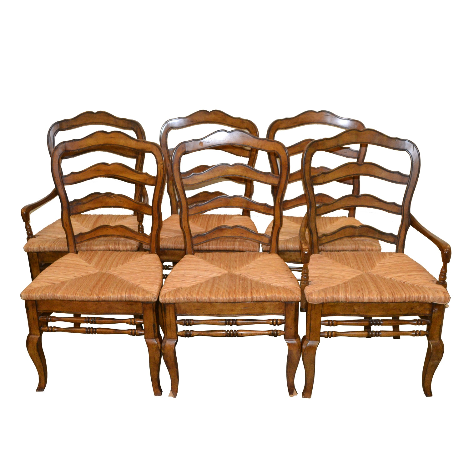 Provincial Style Ladder Back Dining Chairs