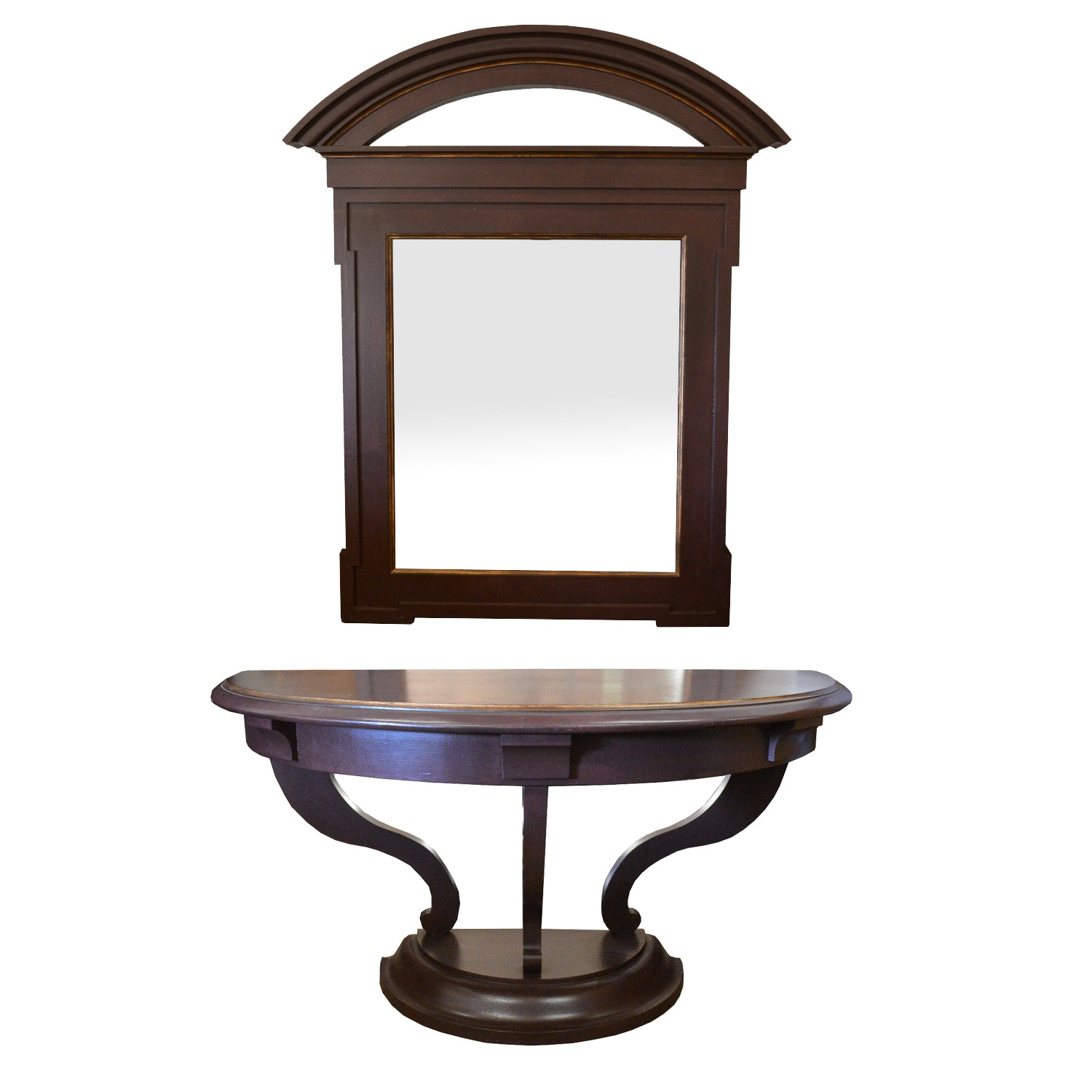 Art Deco Style Foyer Table and Wall Mirror