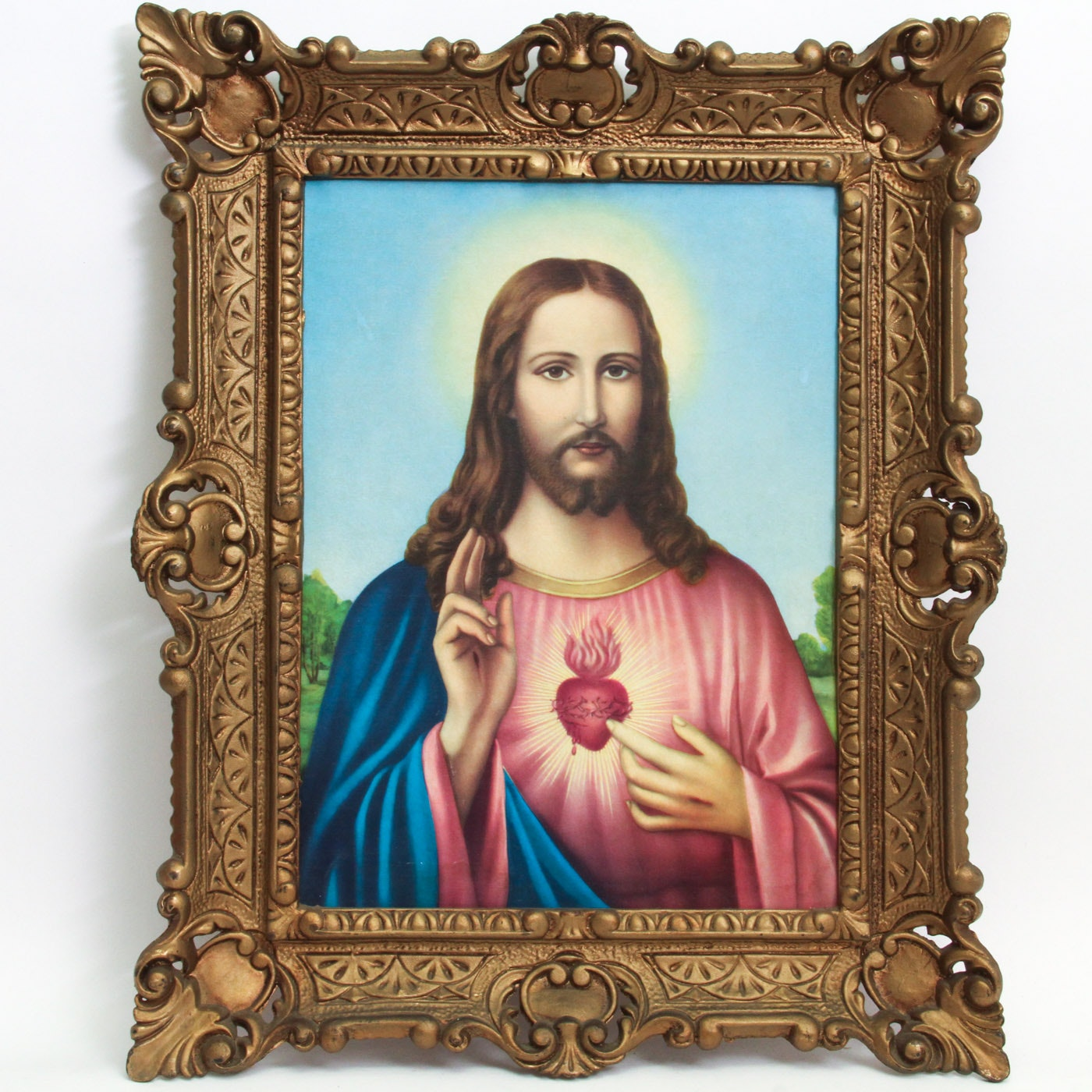 """Offset Lithograph Depicting """"Sacred Heart of Jesus"""""""