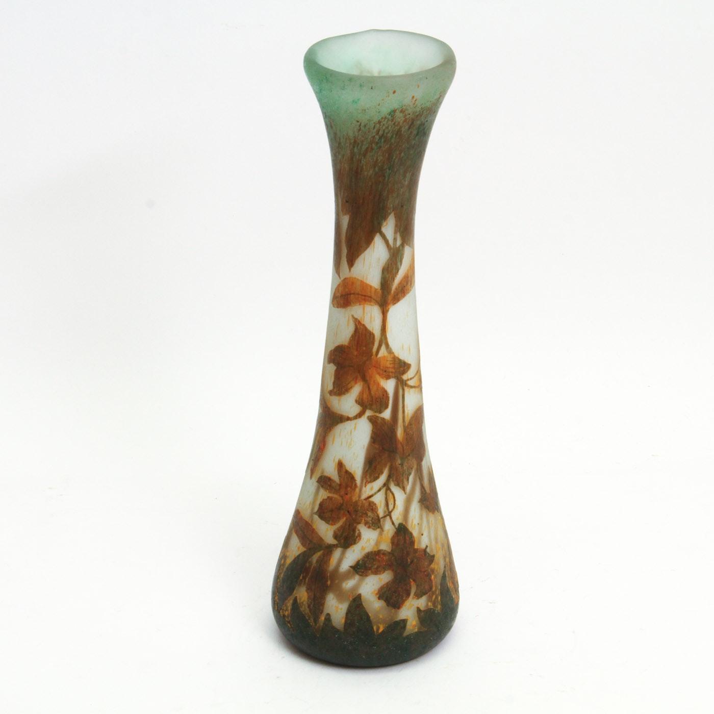 Daum Nancy Art Nouveau Art Glass Vase