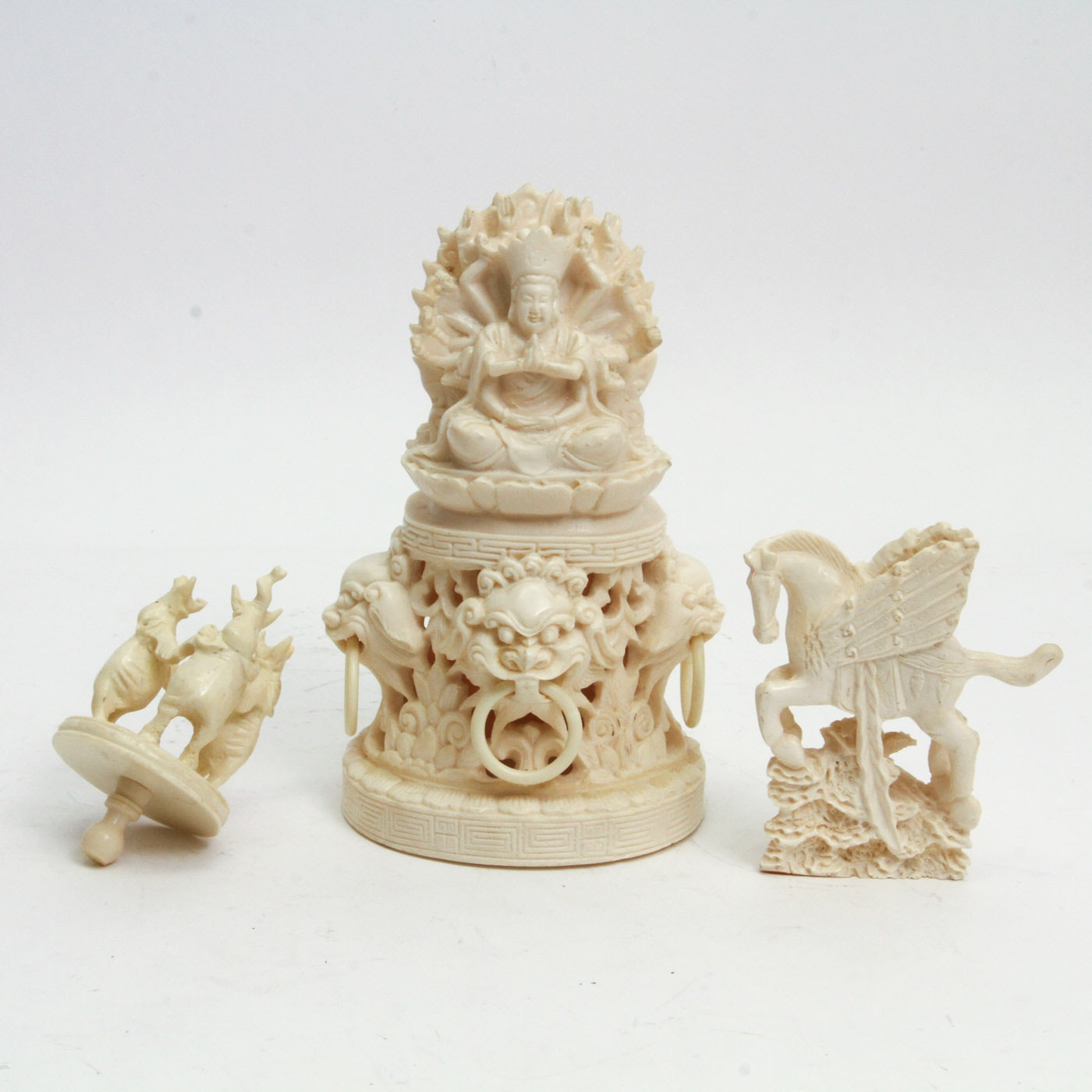 Collection of Chinese Resin Relief Carvings