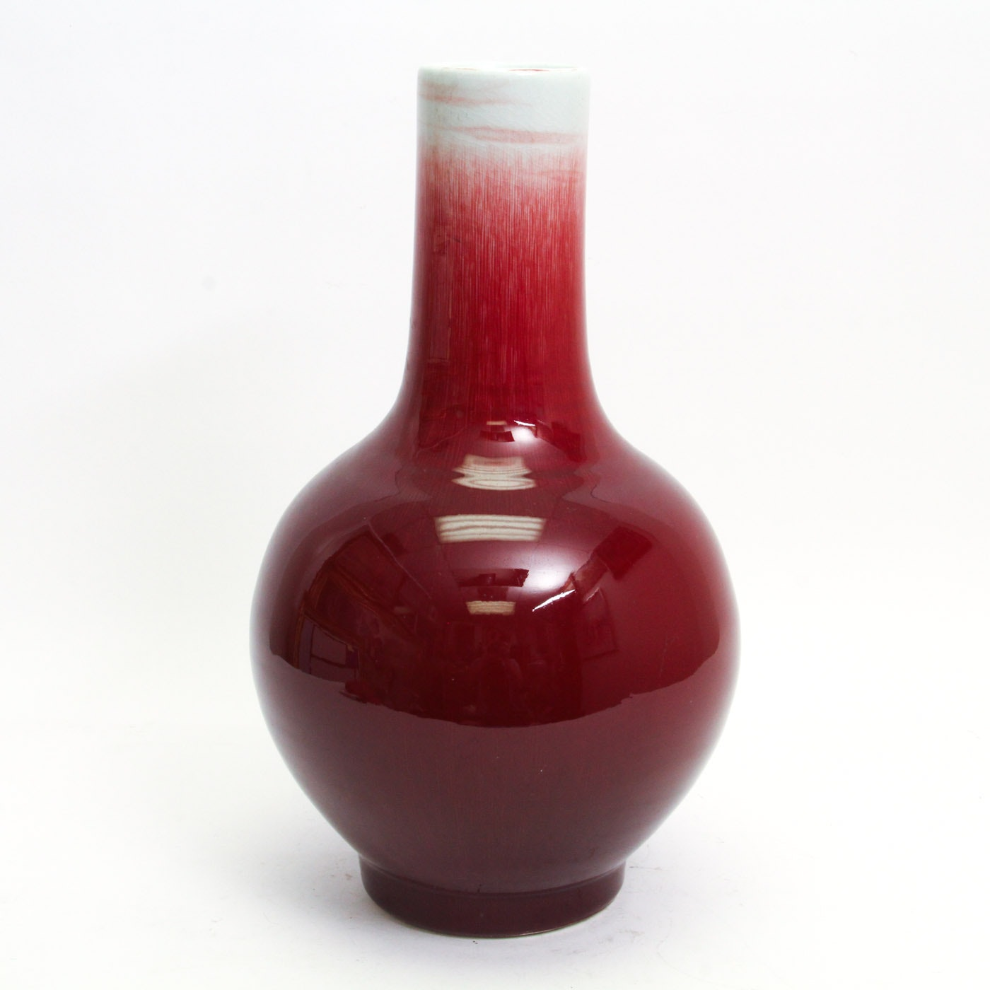Chinese Porcelain Sang de Boeuf Monochrome Vase