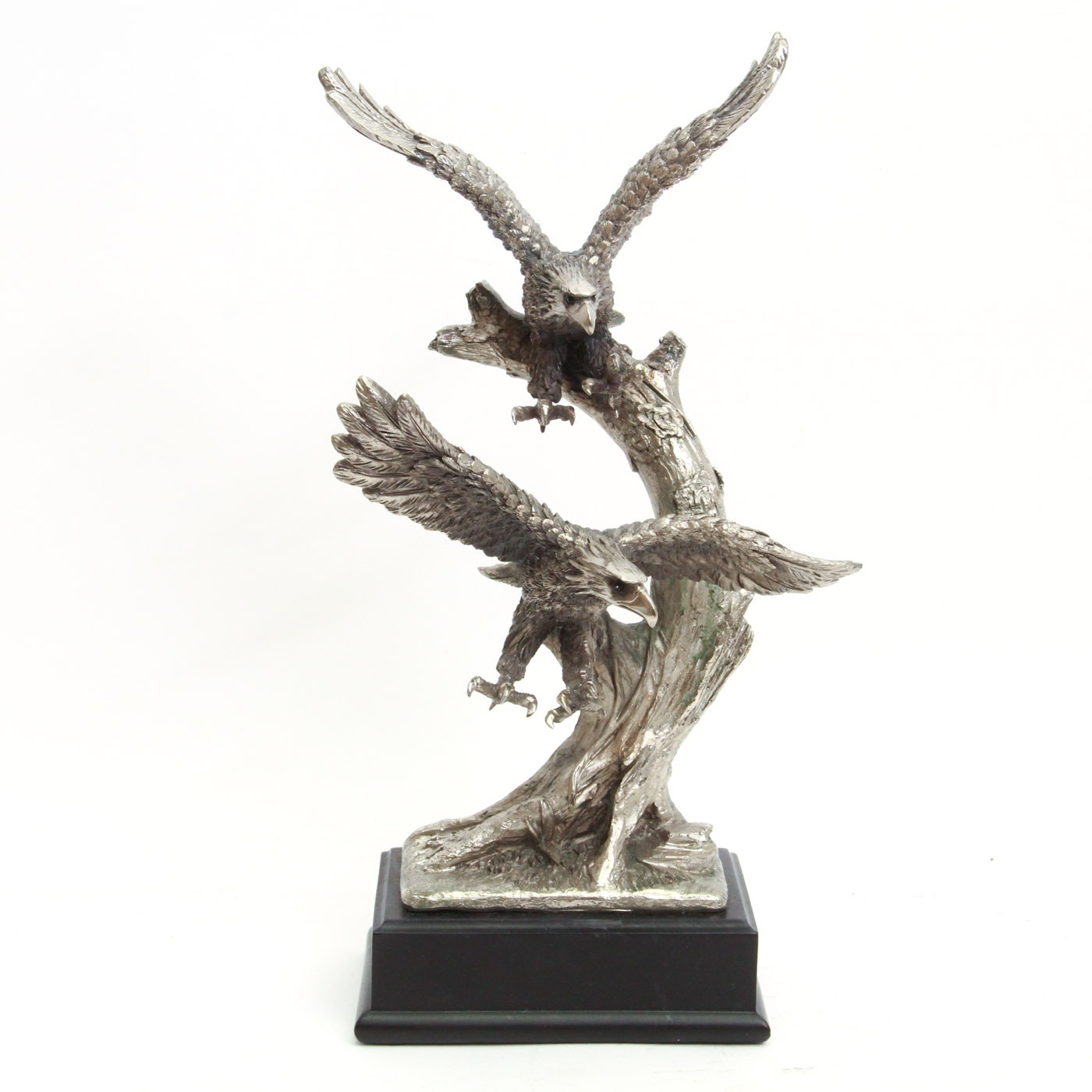 Chiseled Metal Double Eagle Sculpture