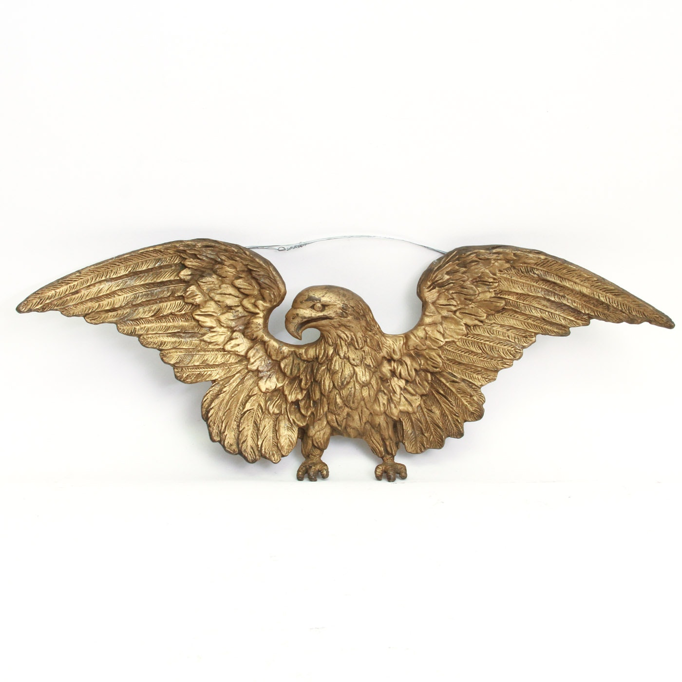 Antique Brass American Eagle Wall Hanging