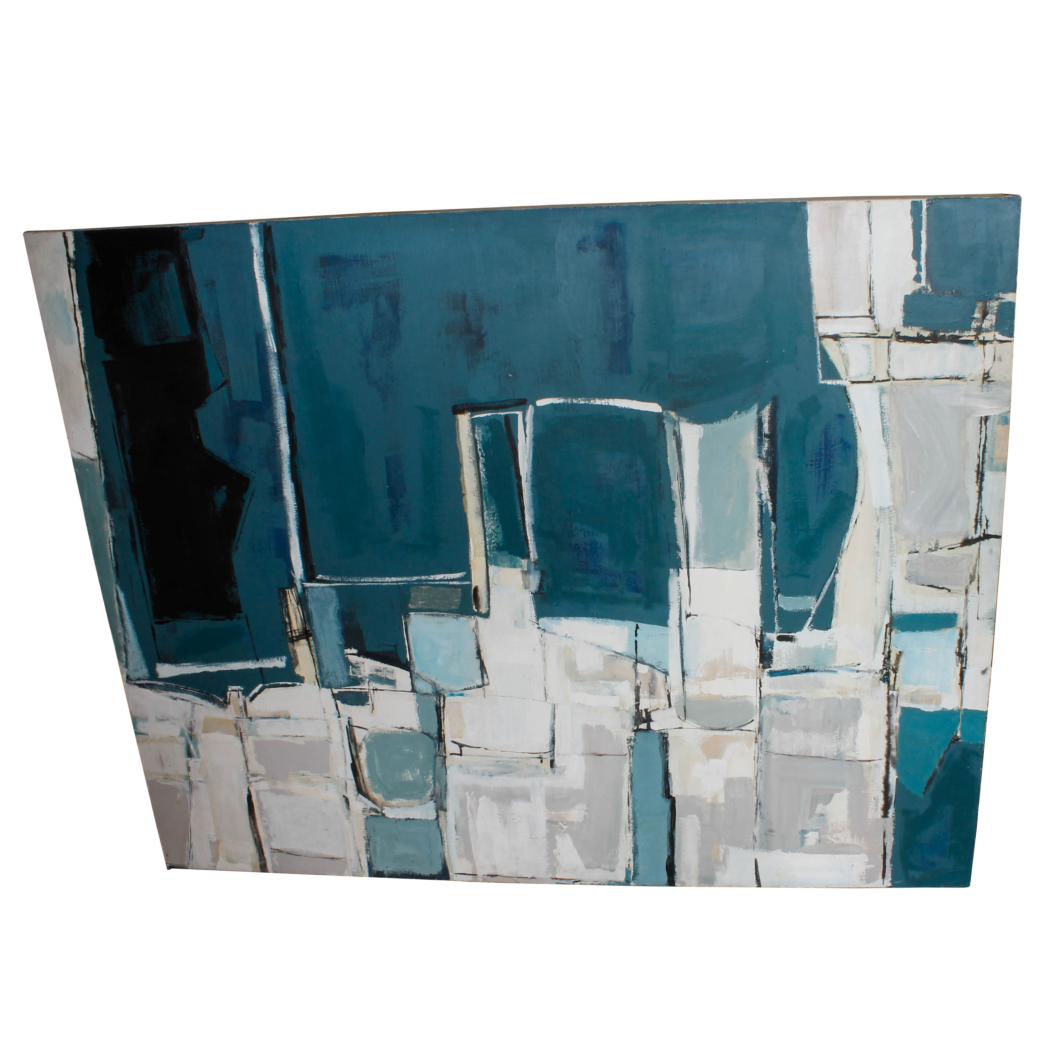 """Alice K. Carlson Abstract Acrylic Painting on Canvas, """"Ups & Downs"""""""