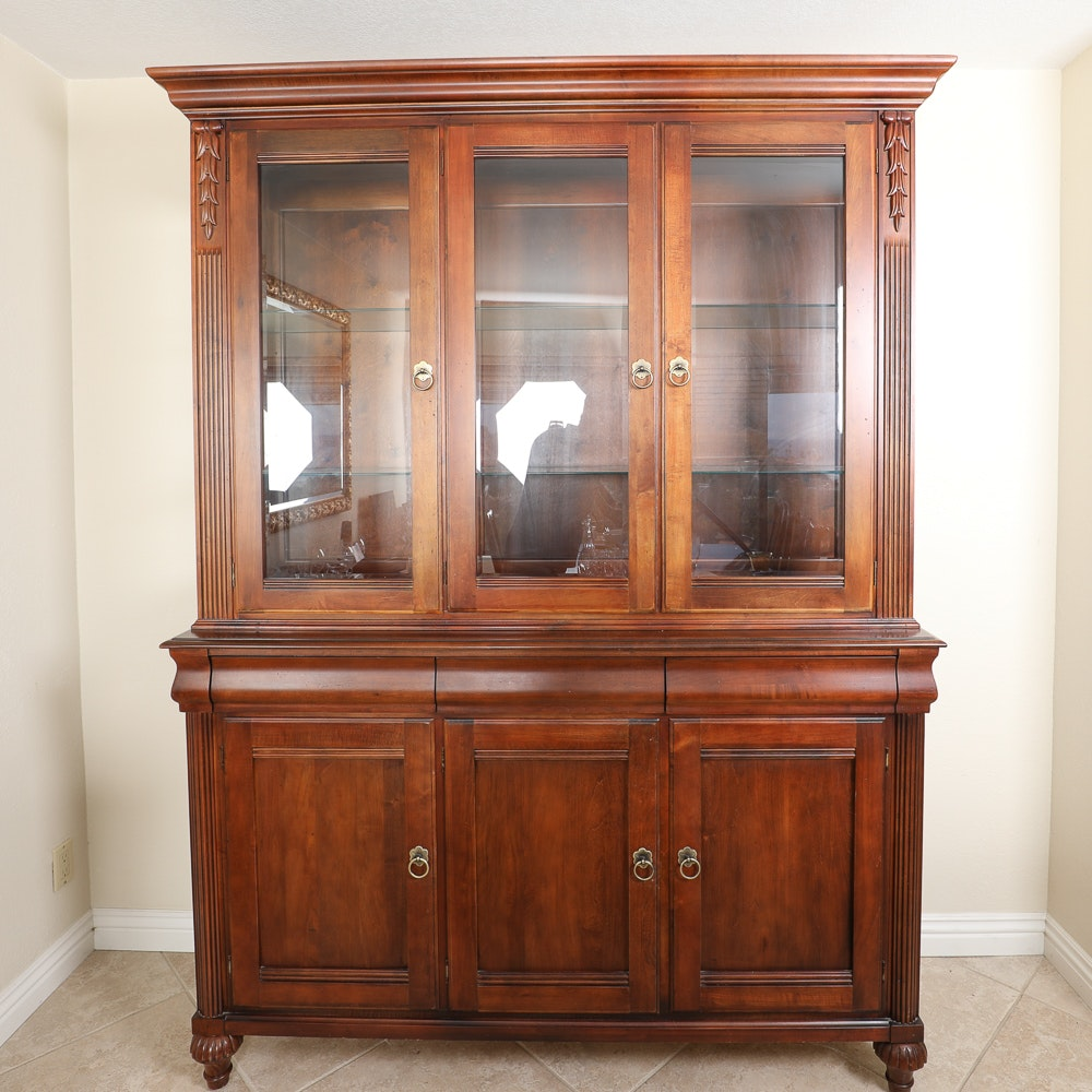 Vintage Ethan Allen Lighted China Cabinet ...