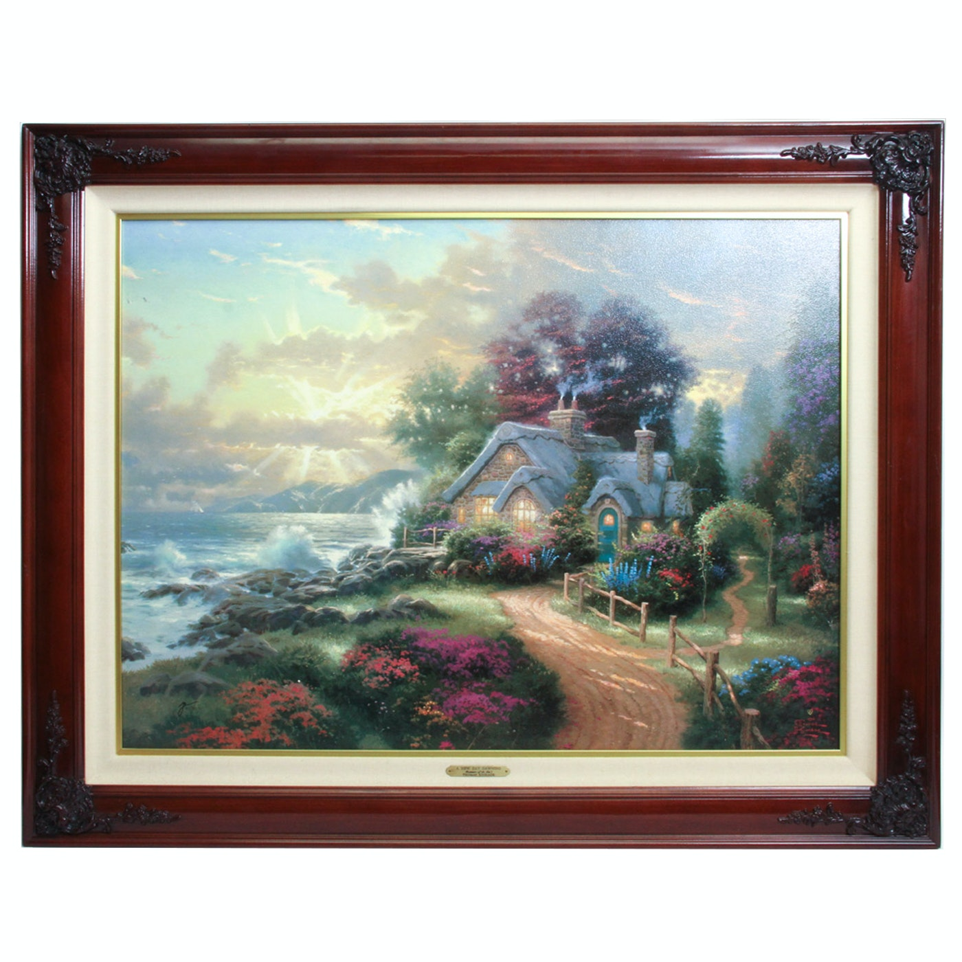 """Limited Edition Offset Lithograph After Thomas Kinkade """"A New Day Dawning"""""""