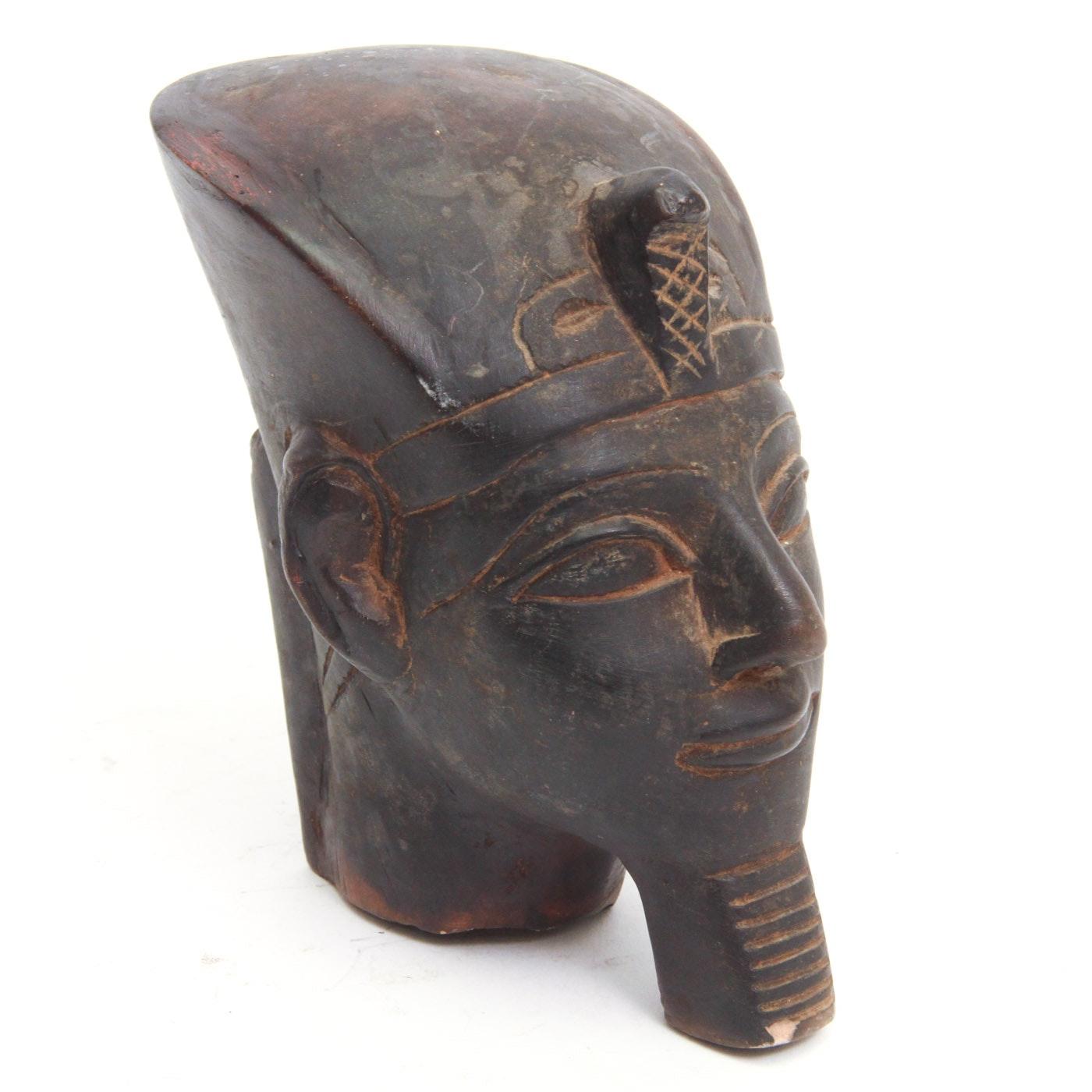 Vintage Egyptian Style Stone bust