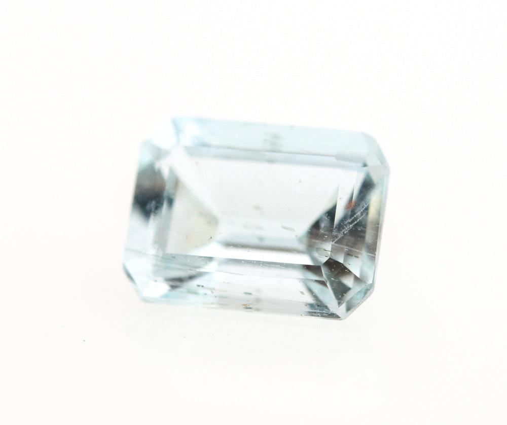 Loose 1.51 Carat Aquamarine Gemstone