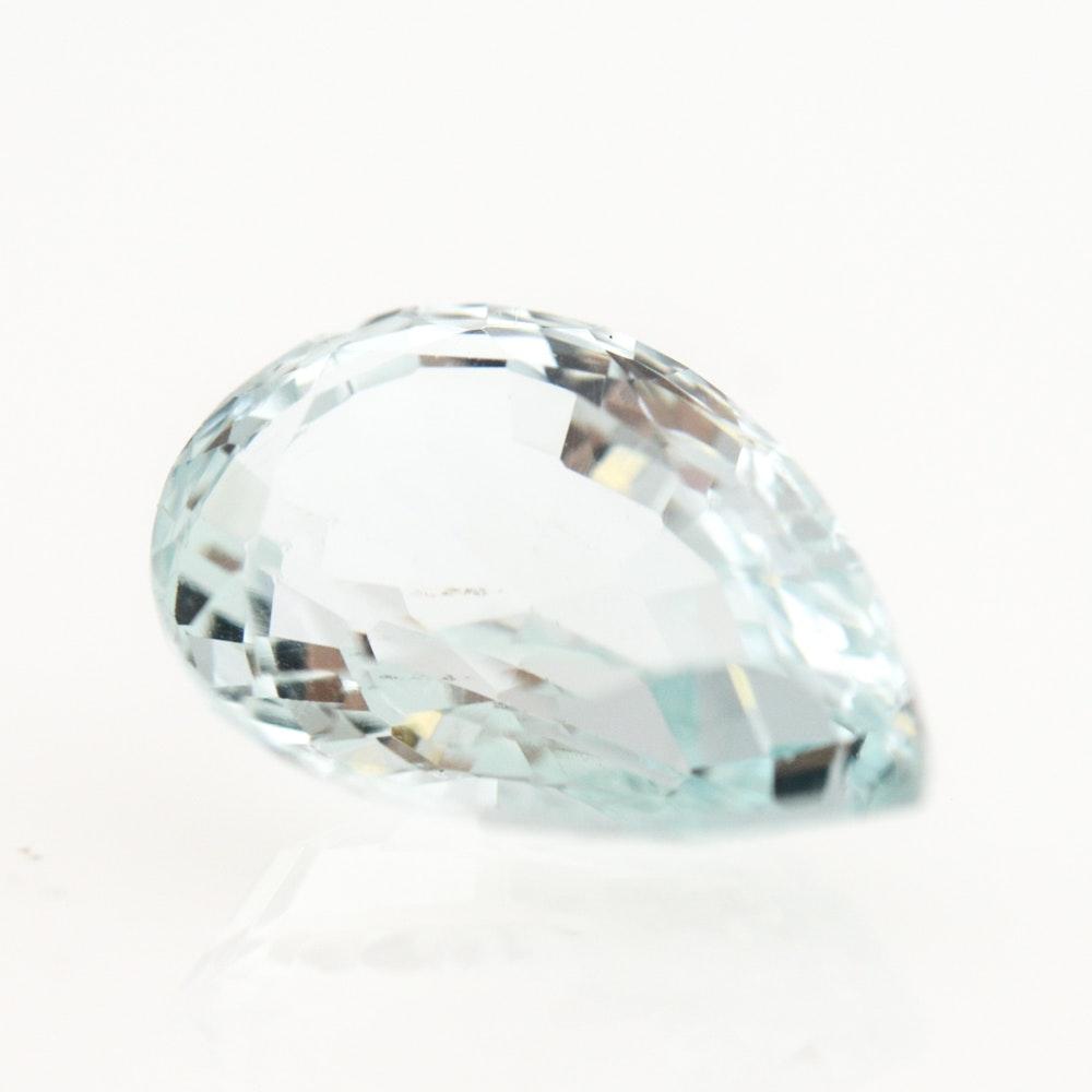 Loose 3.76 Carat Aquamarine Gemstone