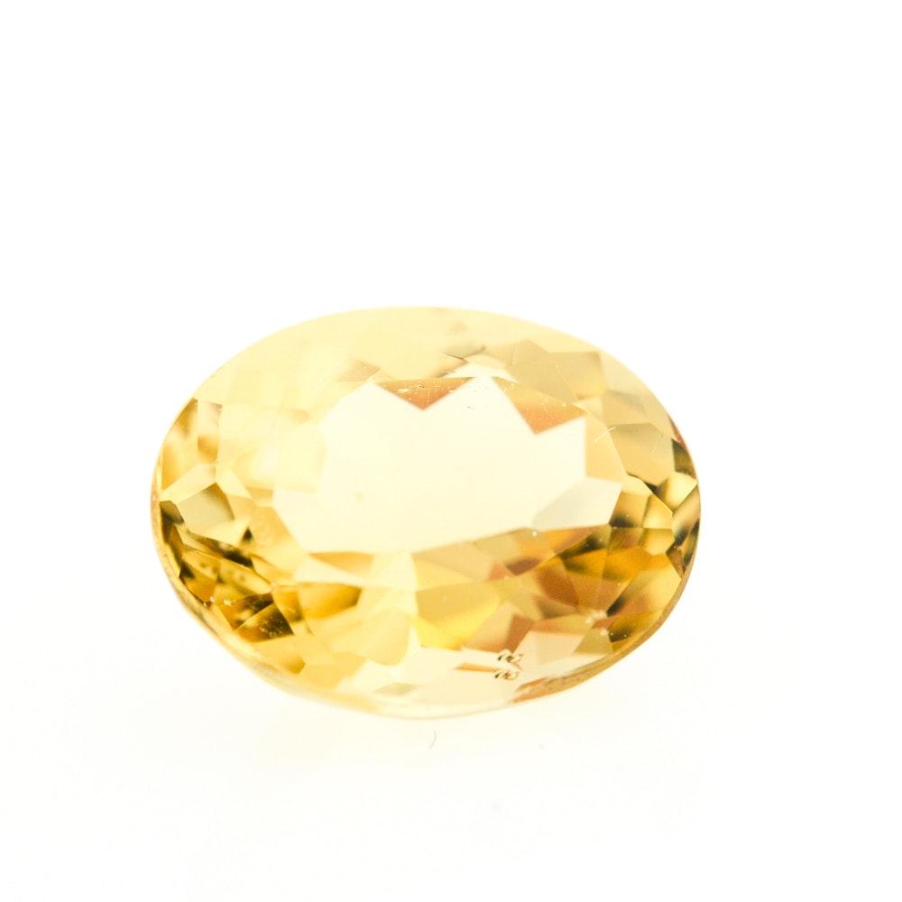 Loose 2.71 Carat Yellow Beryl Gemstone