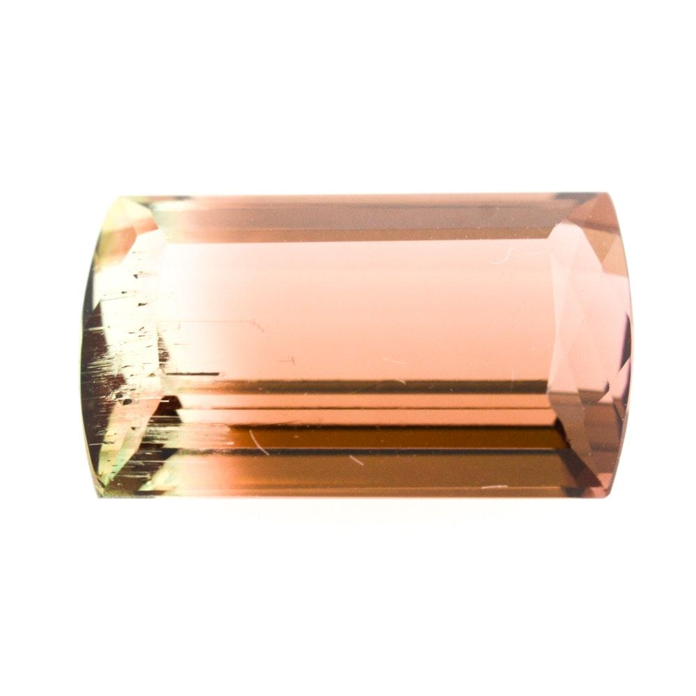 Loose 7.56 Carat Bi-Color Tourmaline Gemstone