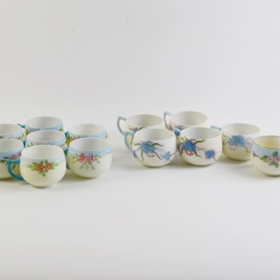Floral Painted Fine Porcelain Teacup Collection