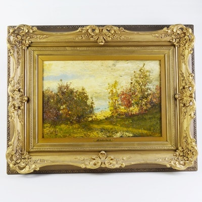 Ralph Albert Blakelock Original Landscape Oil Painting